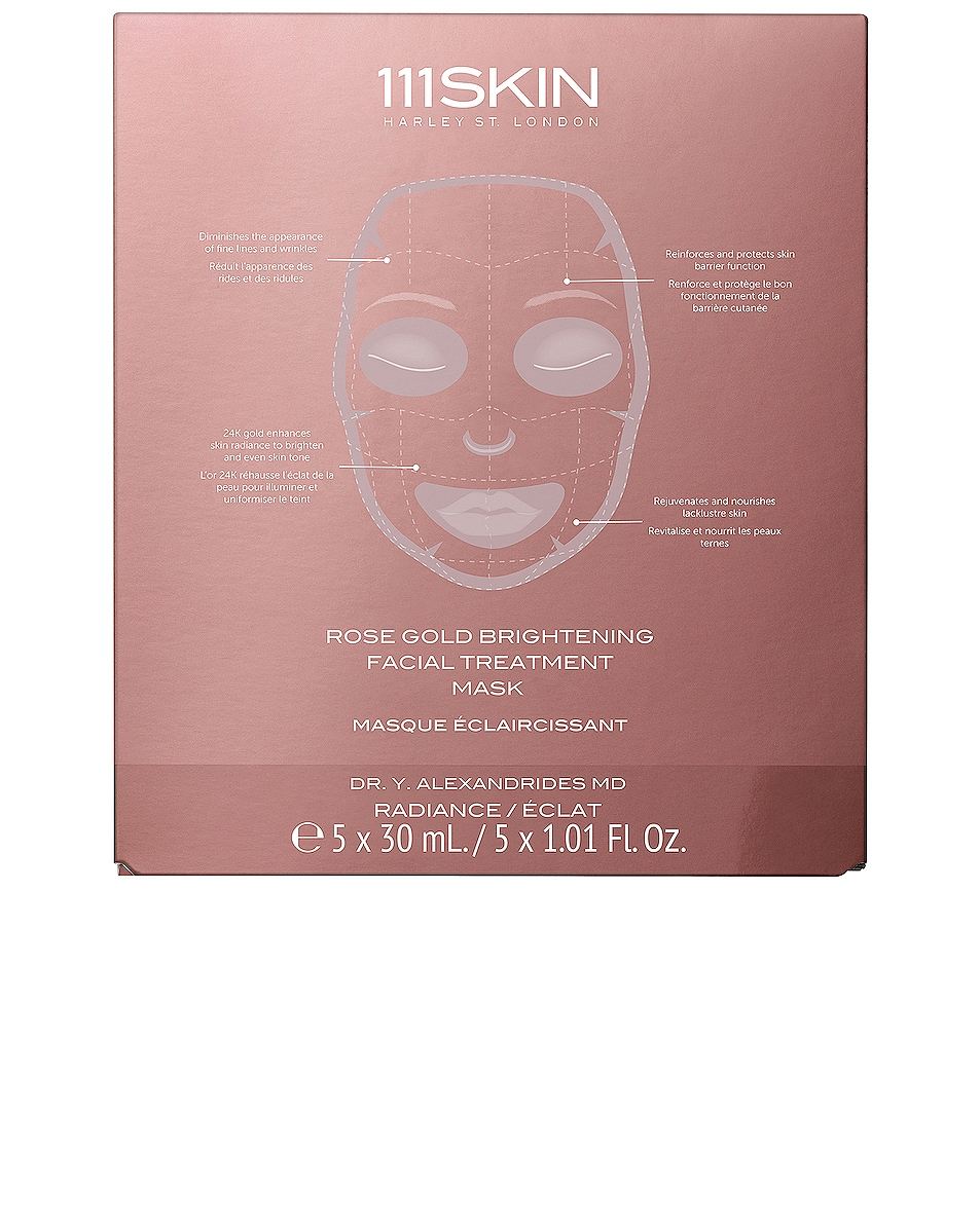 Image 1 of 111Skin Rose Gold Brightening Facial Treatment Mask 5 Pack in