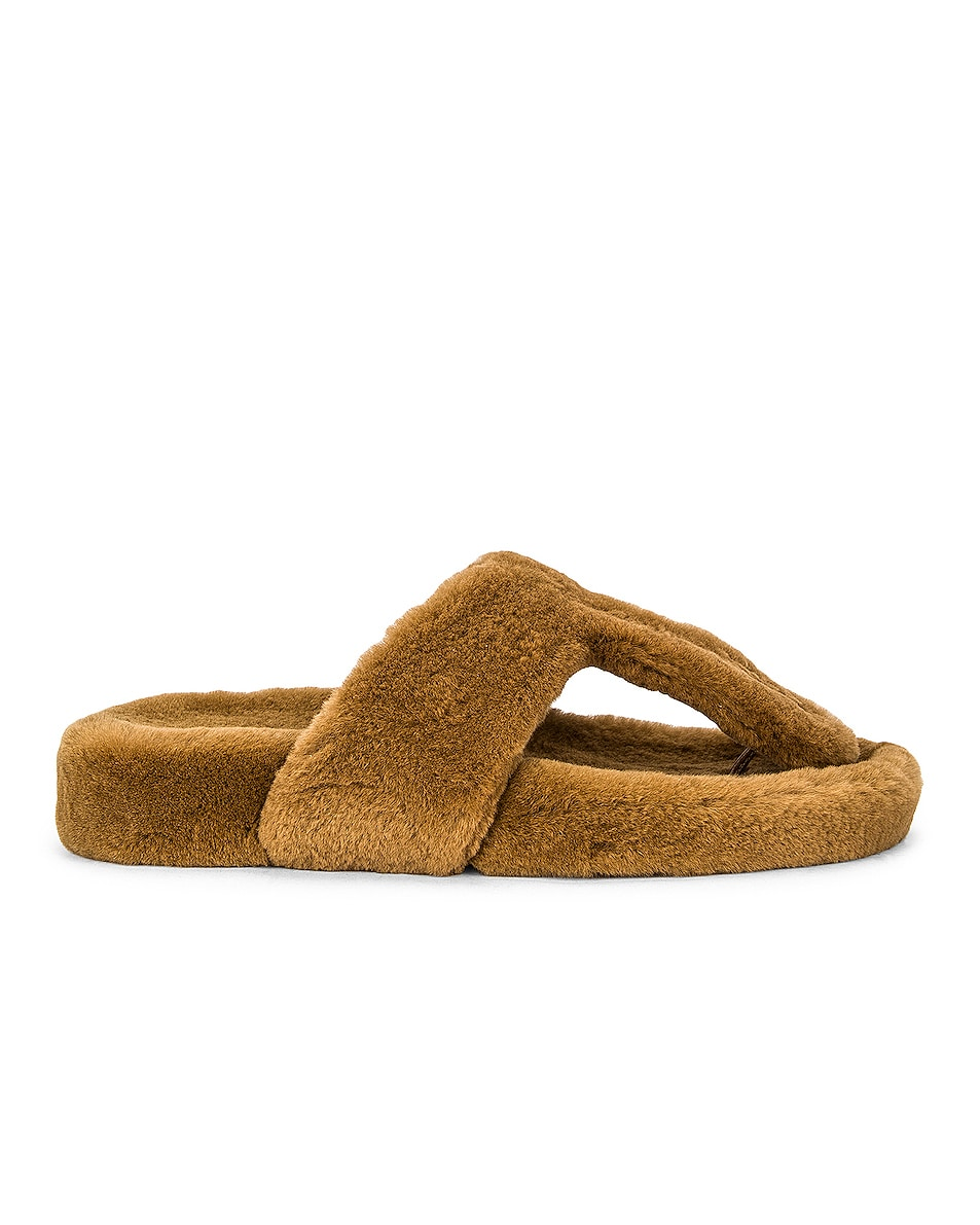 Image 1 of Aquazzura Relax Footbed Flat in Light Brown