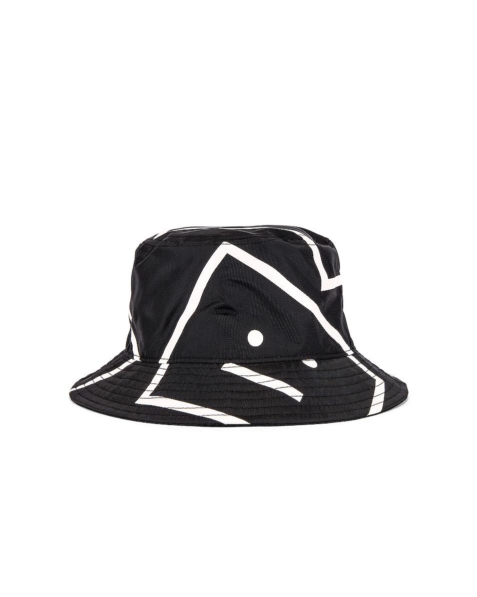 Image 1 of Acne Studios Buk Face NY Co Print Hat in Black