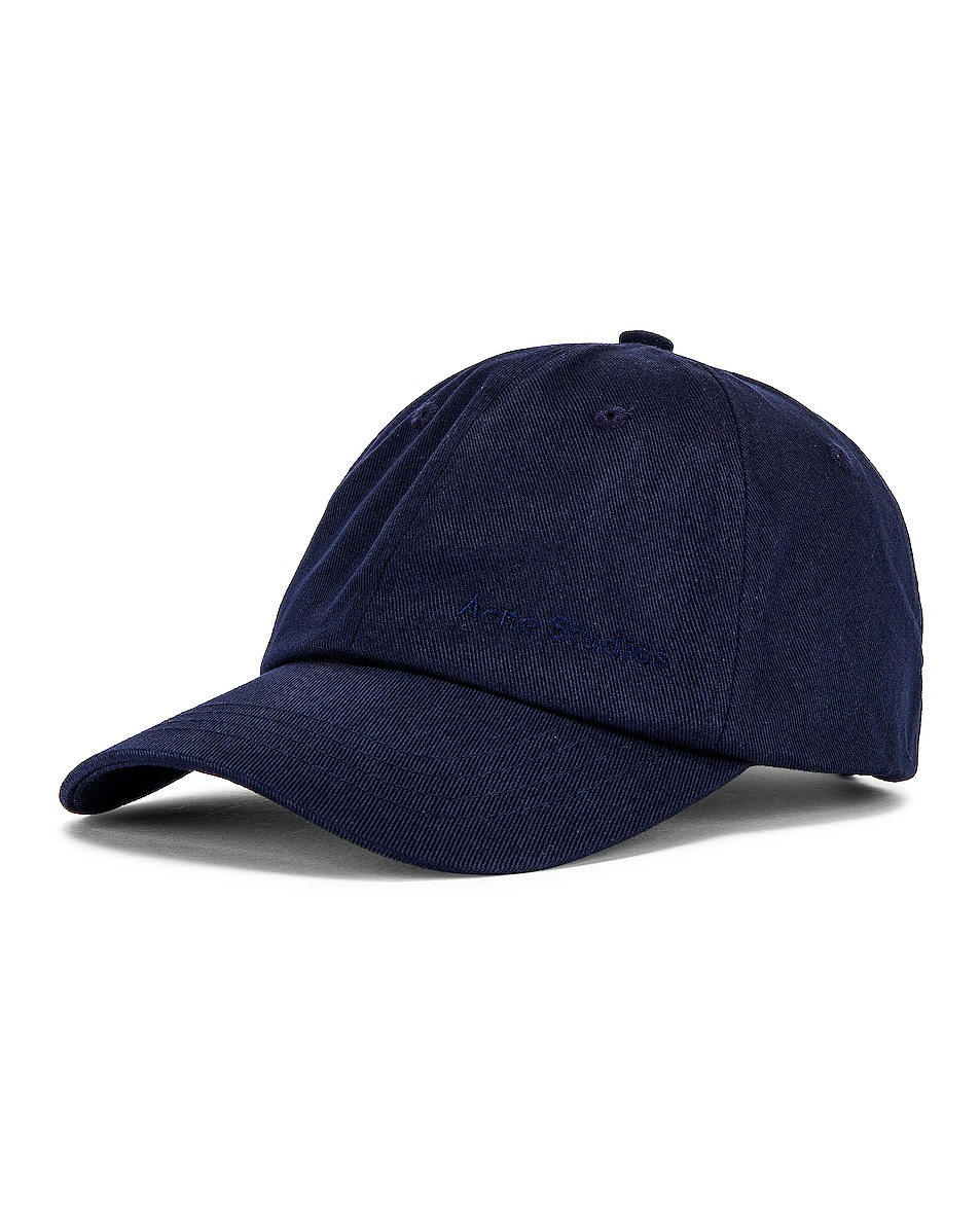 Image 2 of Acne Studios Carliy Hat in Navy Blue