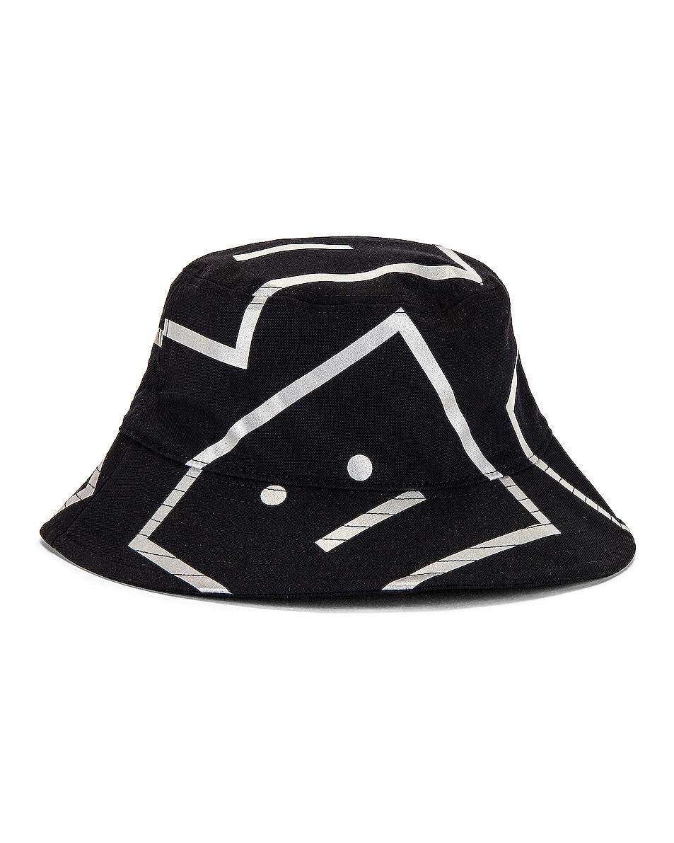 Image 1 of Acne Studios Buko Print Face Hat in Black