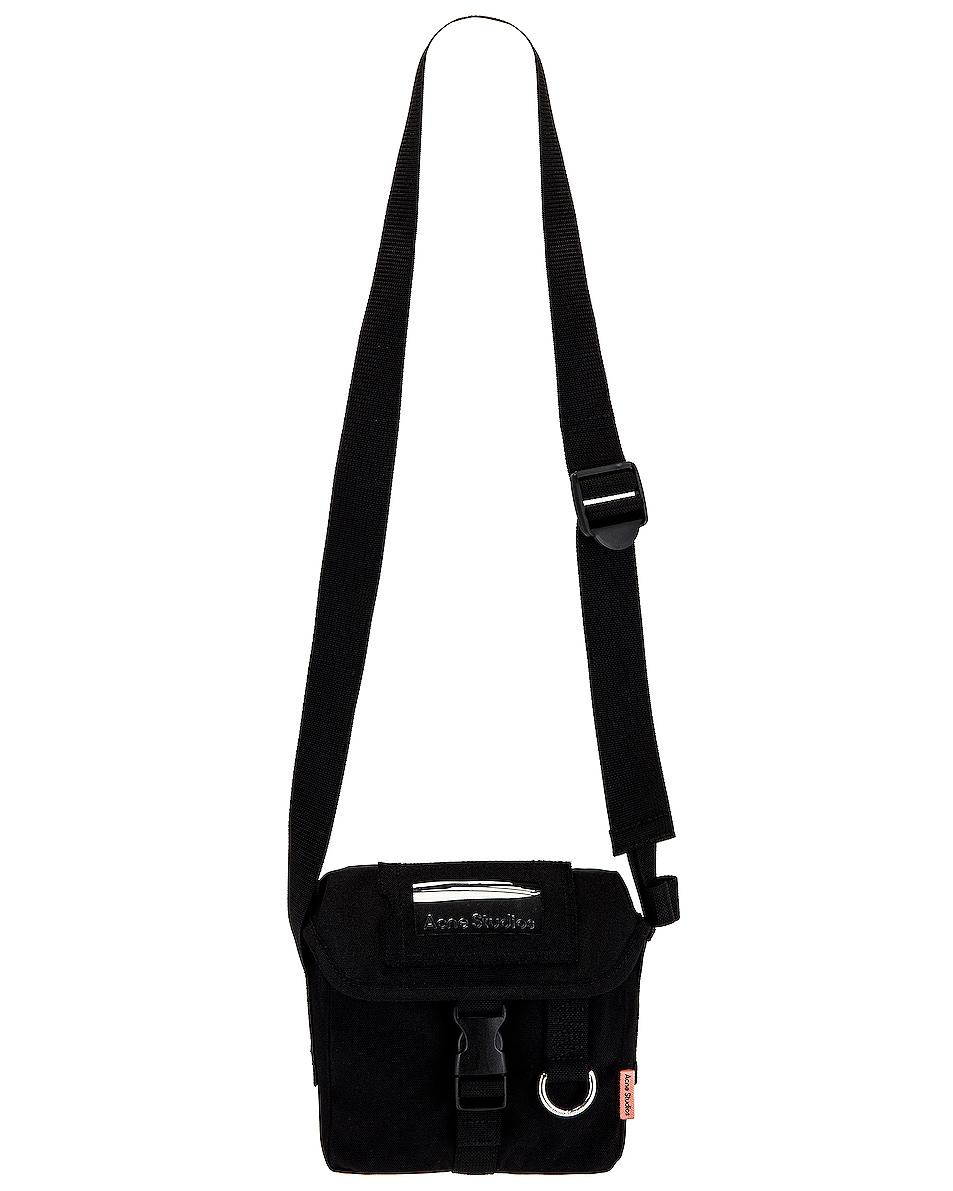 Image 1 of Acne Studios Mini Messenger Crossbody Bag in Black