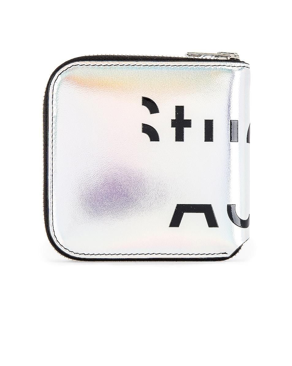 Image 2 of Acne Studios Csarite Wallet in Silver