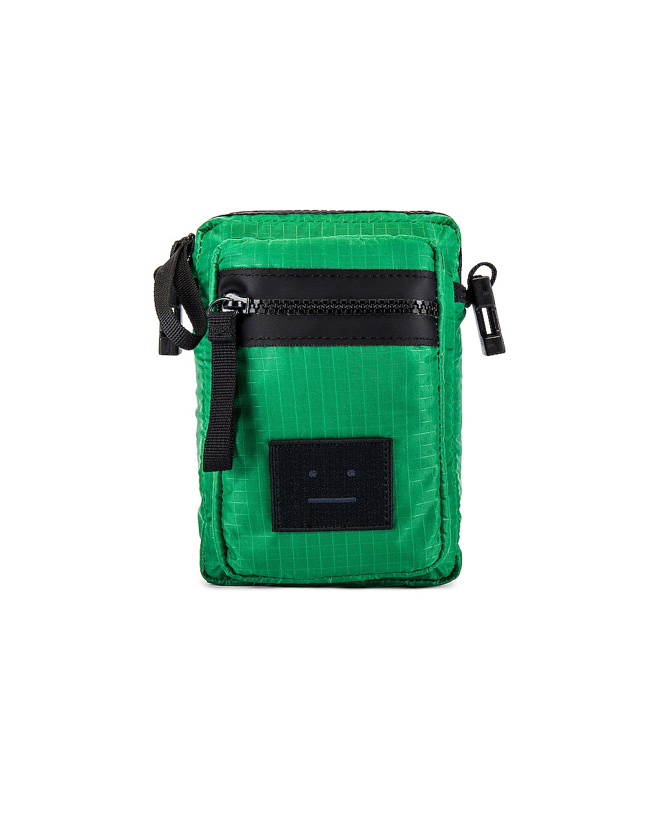 Image 1 of Acne Studios Phone Wallet in Green