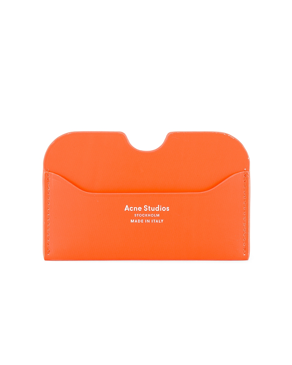 Image 1 of Acne Studios Elmas Cardholder in Fluo Orange