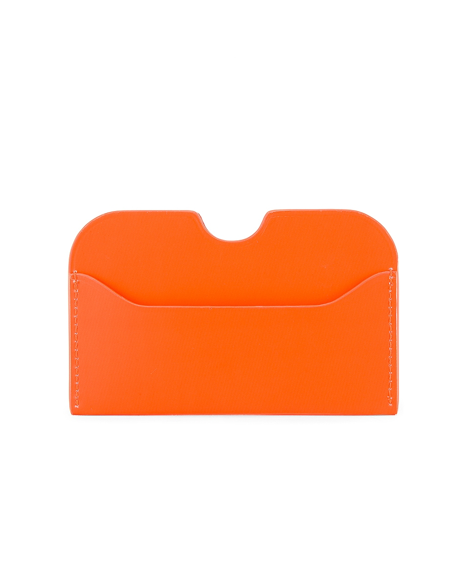 Image 2 of Acne Studios Elmas Cardholder in Fluo Orange