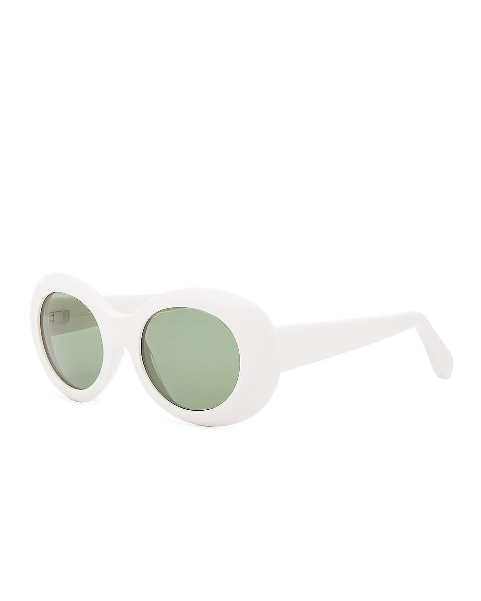 Image 2 of Acne Studios Mustang Sunglasses in Off White