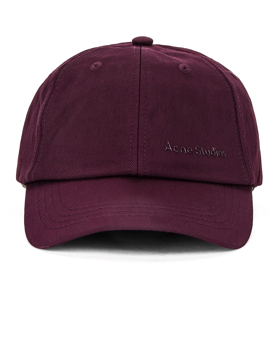 Image 1 of Acne Studios Baseball Hat in Maroon Red