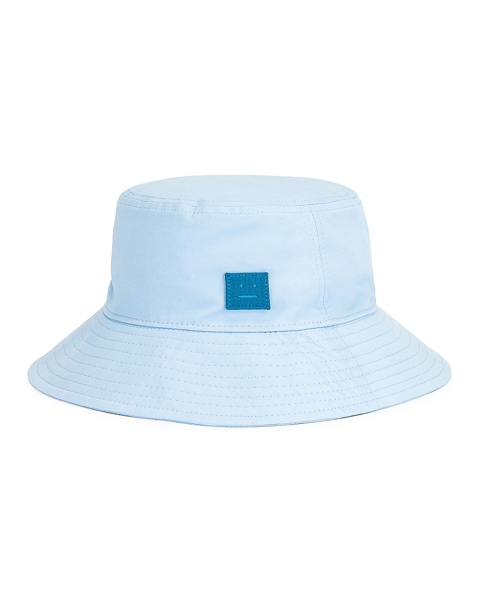 Image 1 of Acne Studios Buko Face Bucket Hat in Light Blue