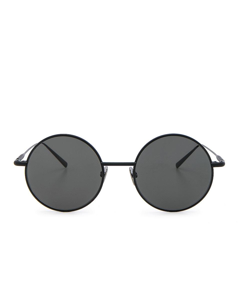Image 1 of Acne Studios Scientist Sunglasses in Black Satin & Black