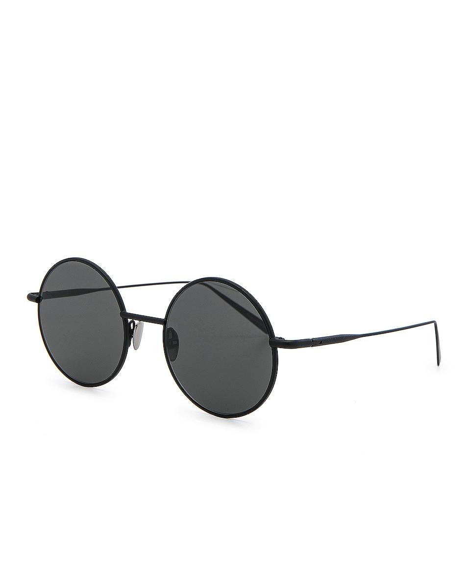 Image 2 of Acne Studios Scientist Sunglasses in Black Satin & Black
