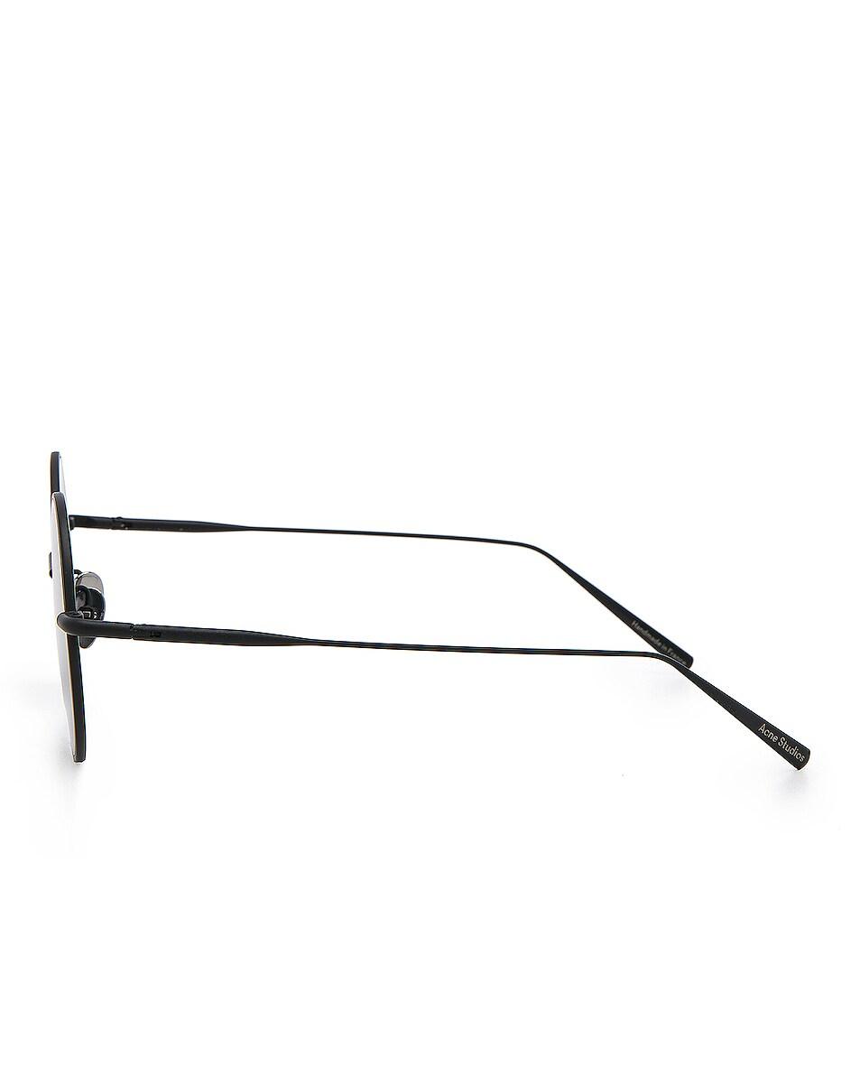 Image 3 of Acne Studios Scientist Sunglasses in Black Satin & Black