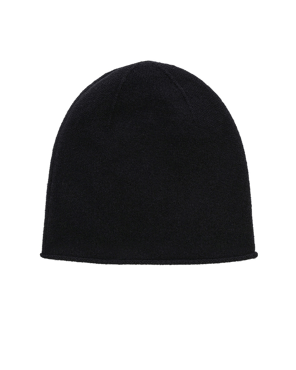 Image 2 of Acne Studios Face Slouch Beanie in Black