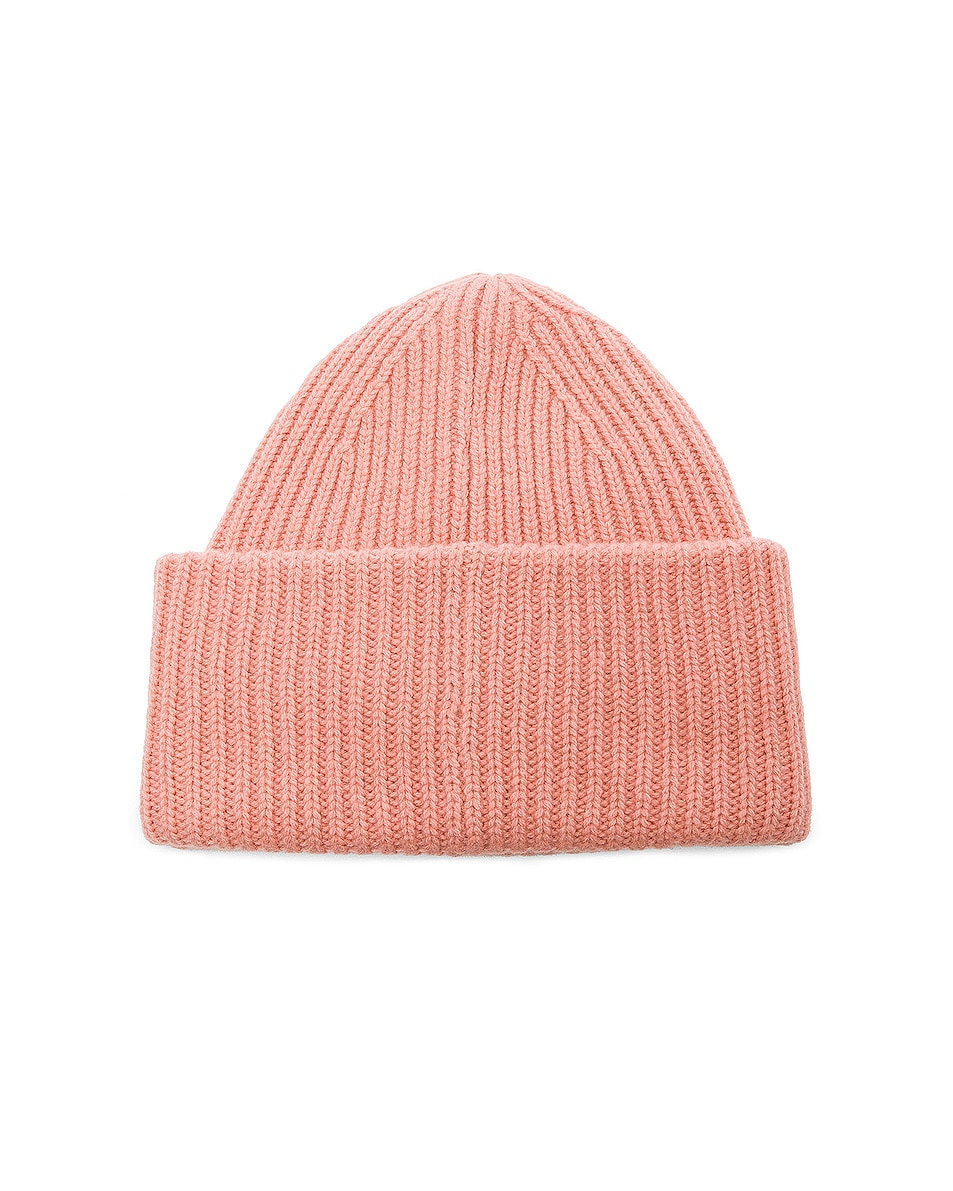 Image 2 of Acne Studios Pansy Face Beanie in Pale Pink