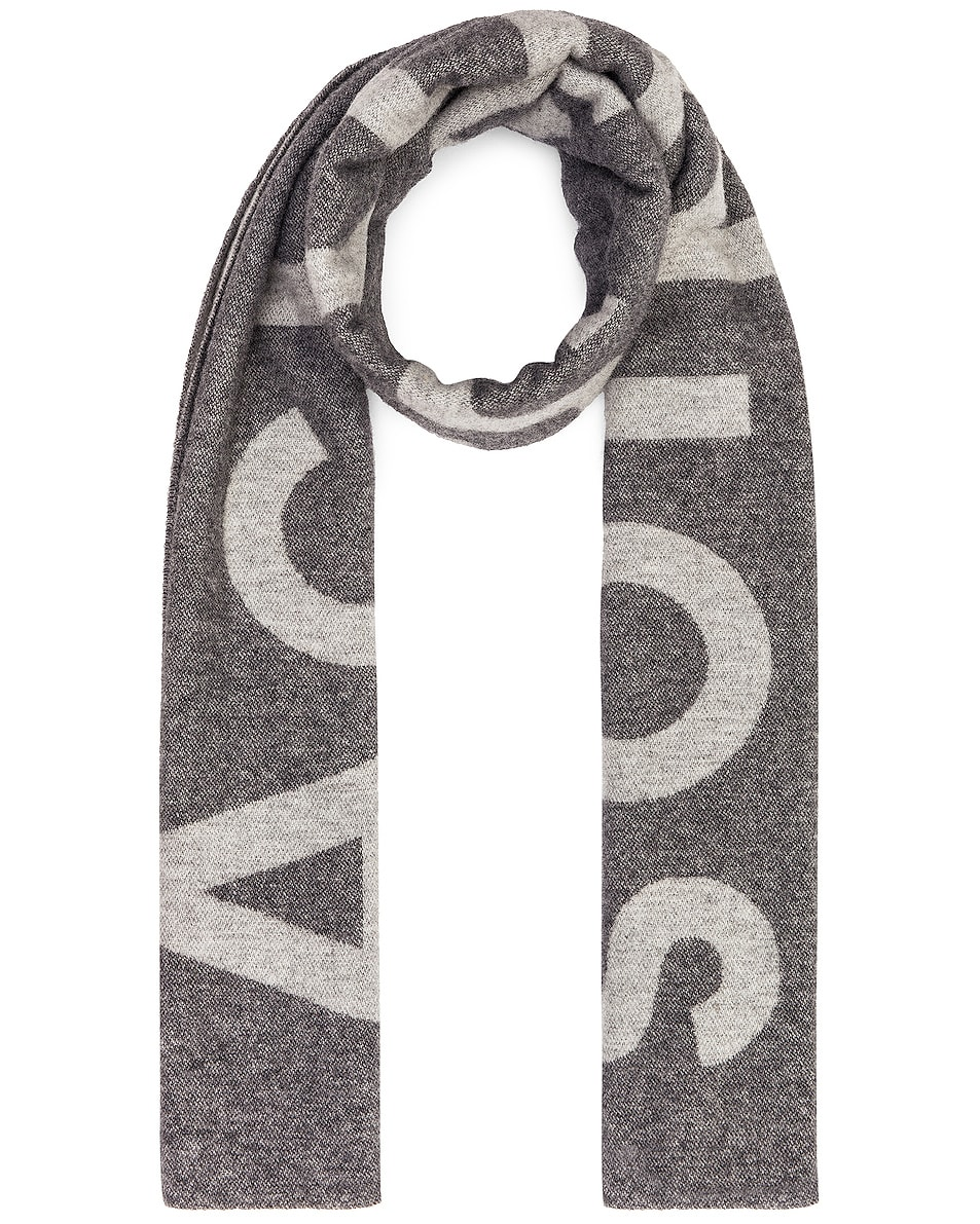 Image 1 of Acne Studios Toronty Logo Scarf in Grey