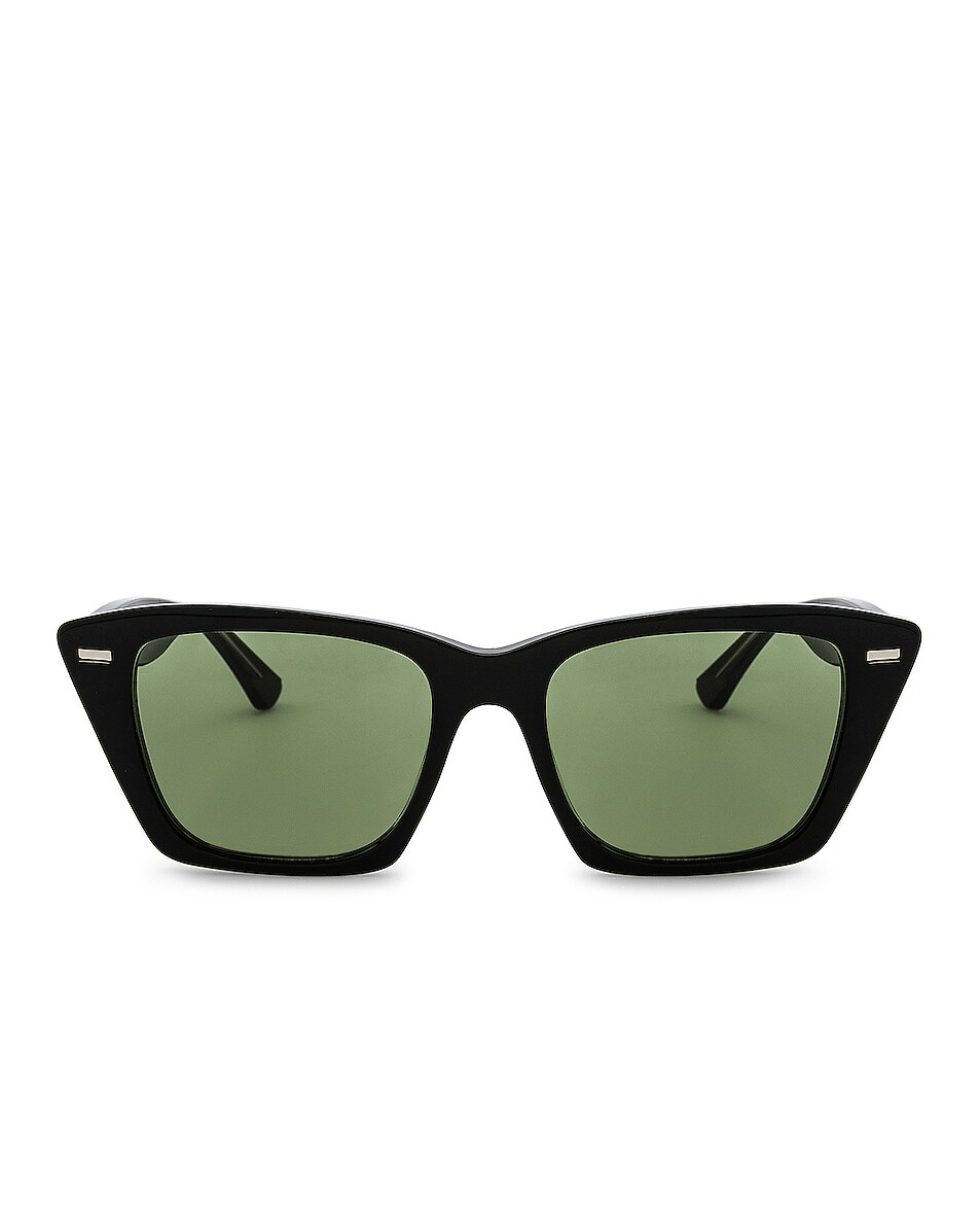 Image 1 of Acne Studios Ingridh Sunglasses in Black, Yellow & Green