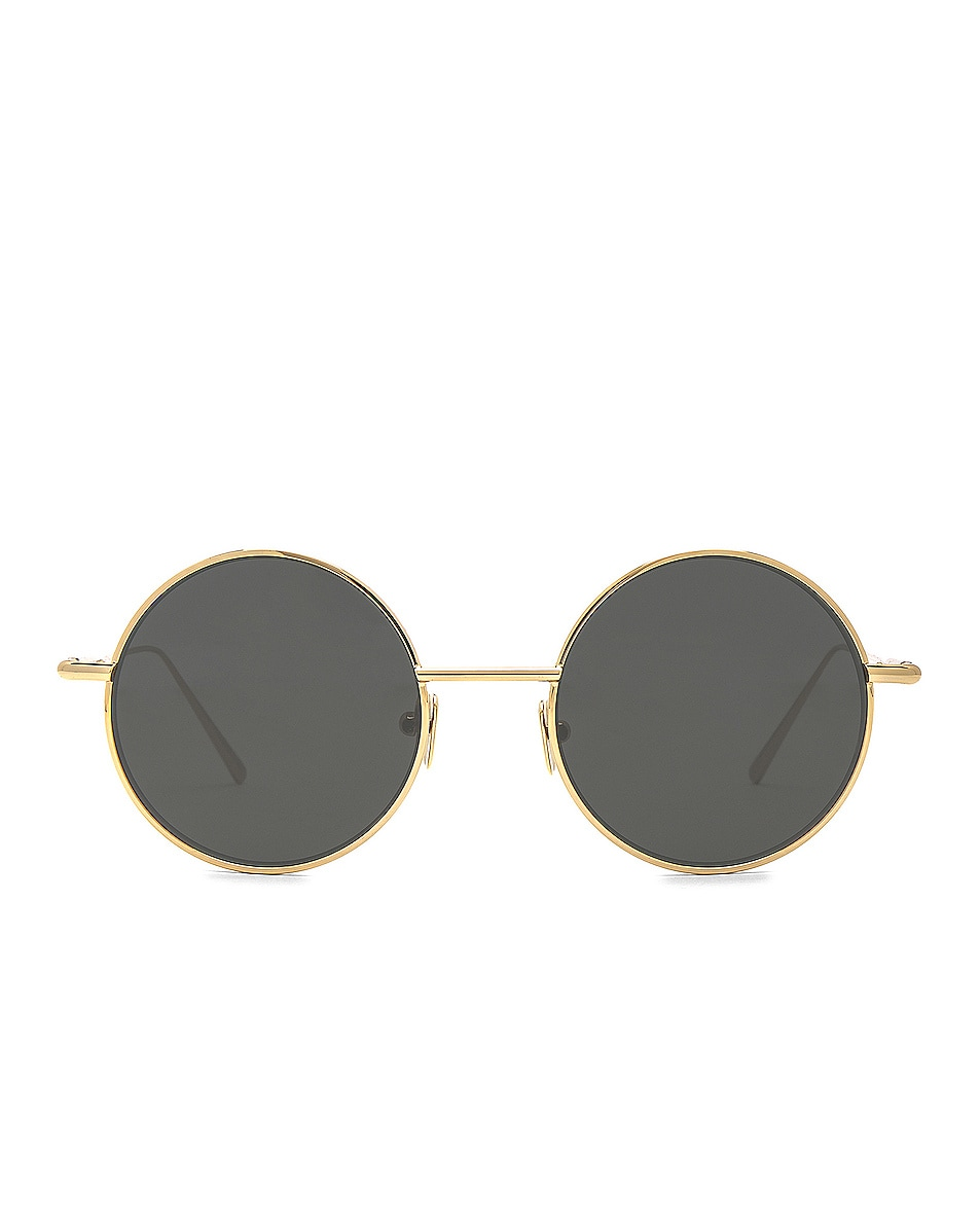 Image 1 of Acne Studios Scientist Sunglasses in Gold & Black