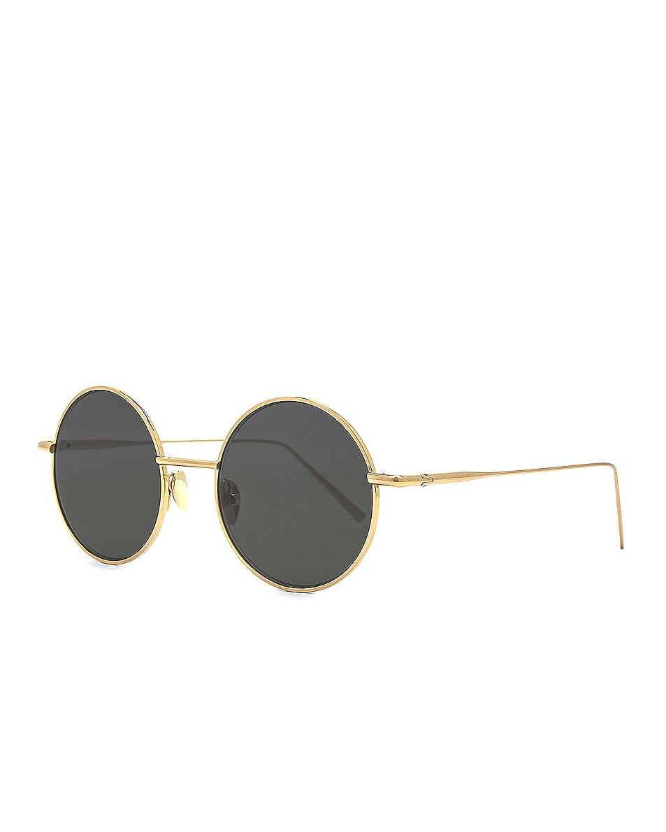 Image 2 of Acne Studios Scientist Sunglasses in Gold & Black