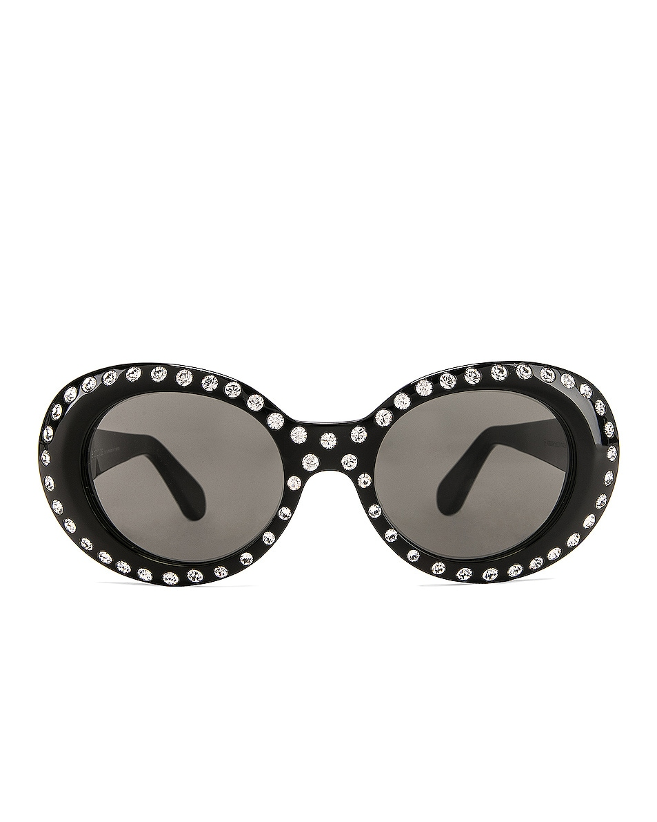 Image 1 of Acne Studios Mustang Strass Sunglasses in Black