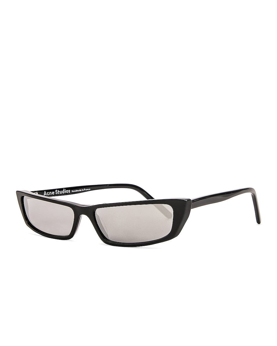 Image 2 of Acne Studios Agar Glasses in Black & Silver Mirror