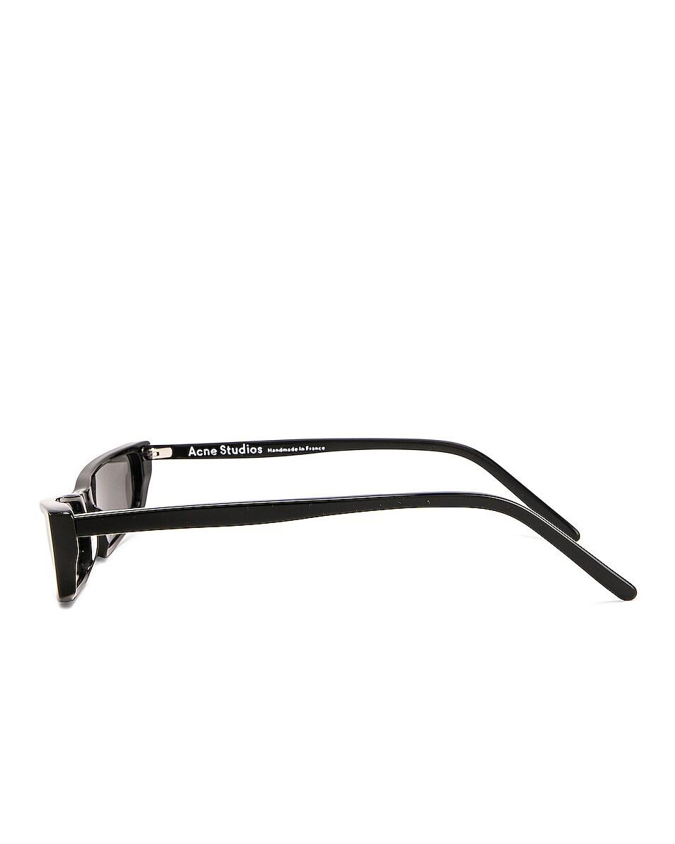 Image 3 of Acne Studios Agar Glasses in Black & Silver Mirror