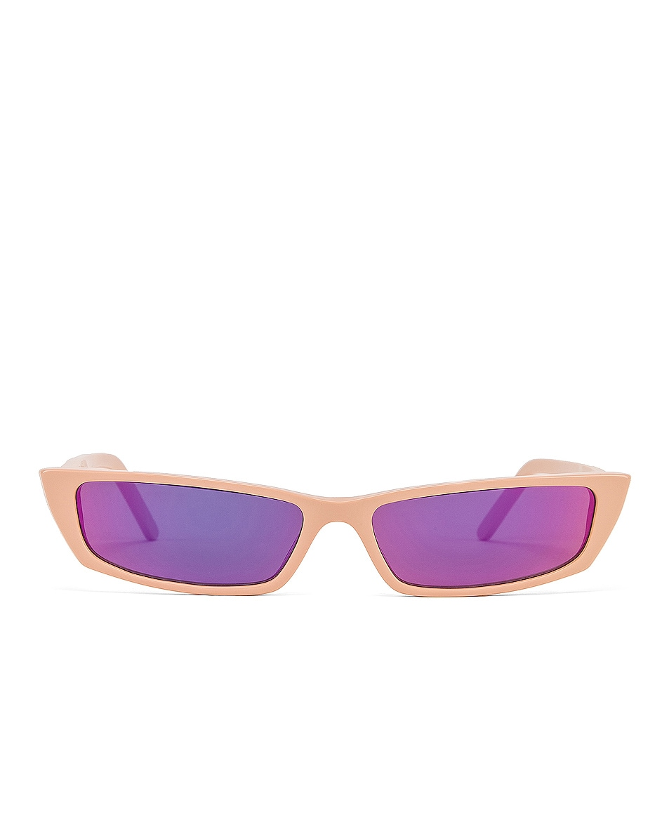 Image 1 of Acne Studios Agar Glasses in Pink & Pink Mirror