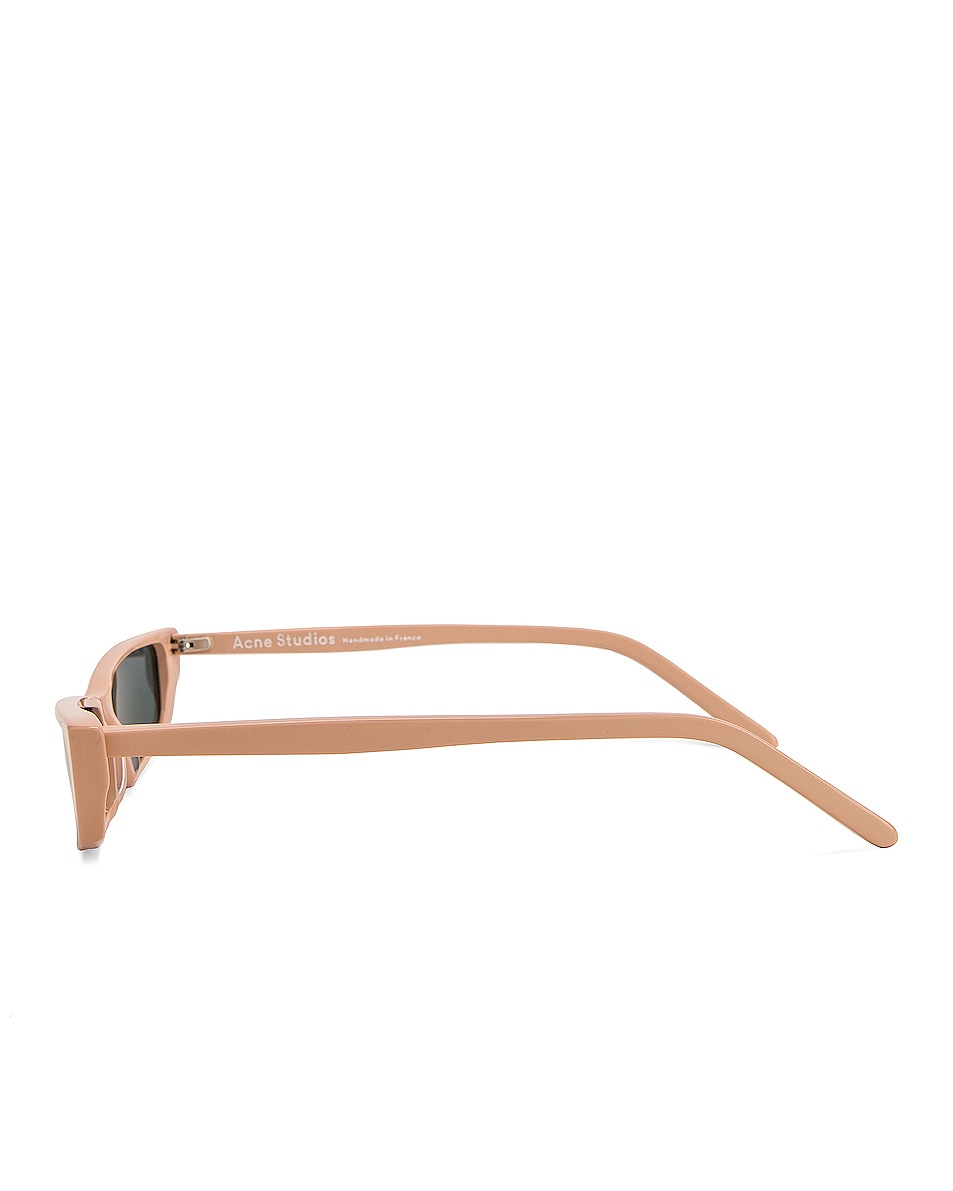 Image 3 of Acne Studios Agar Glasses in Pink & Pink Mirror