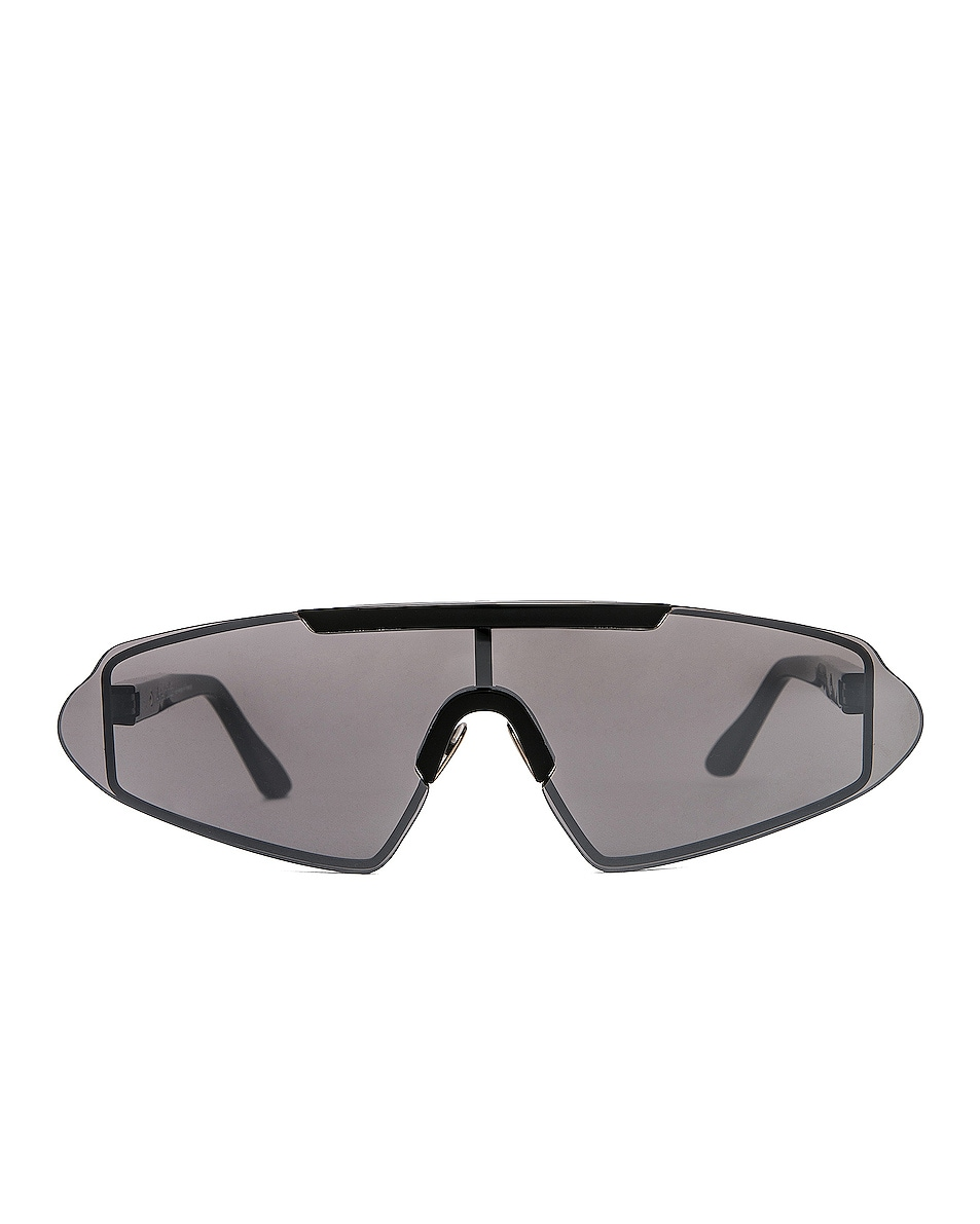 Image 1 of Acne Studios Bornt Sunglasses in Black & Silver