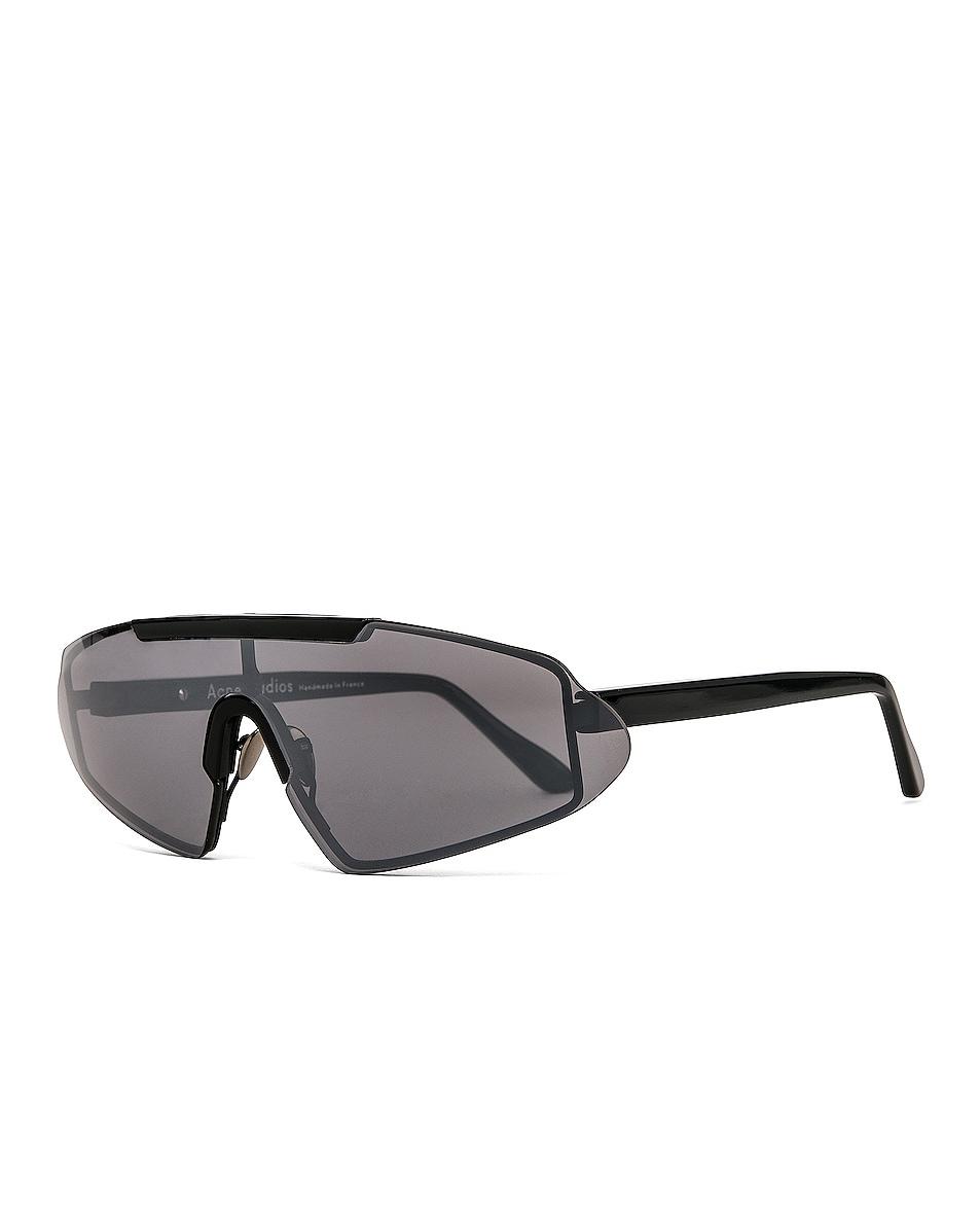 Image 2 of Acne Studios Bornt Sunglasses in Black & Silver