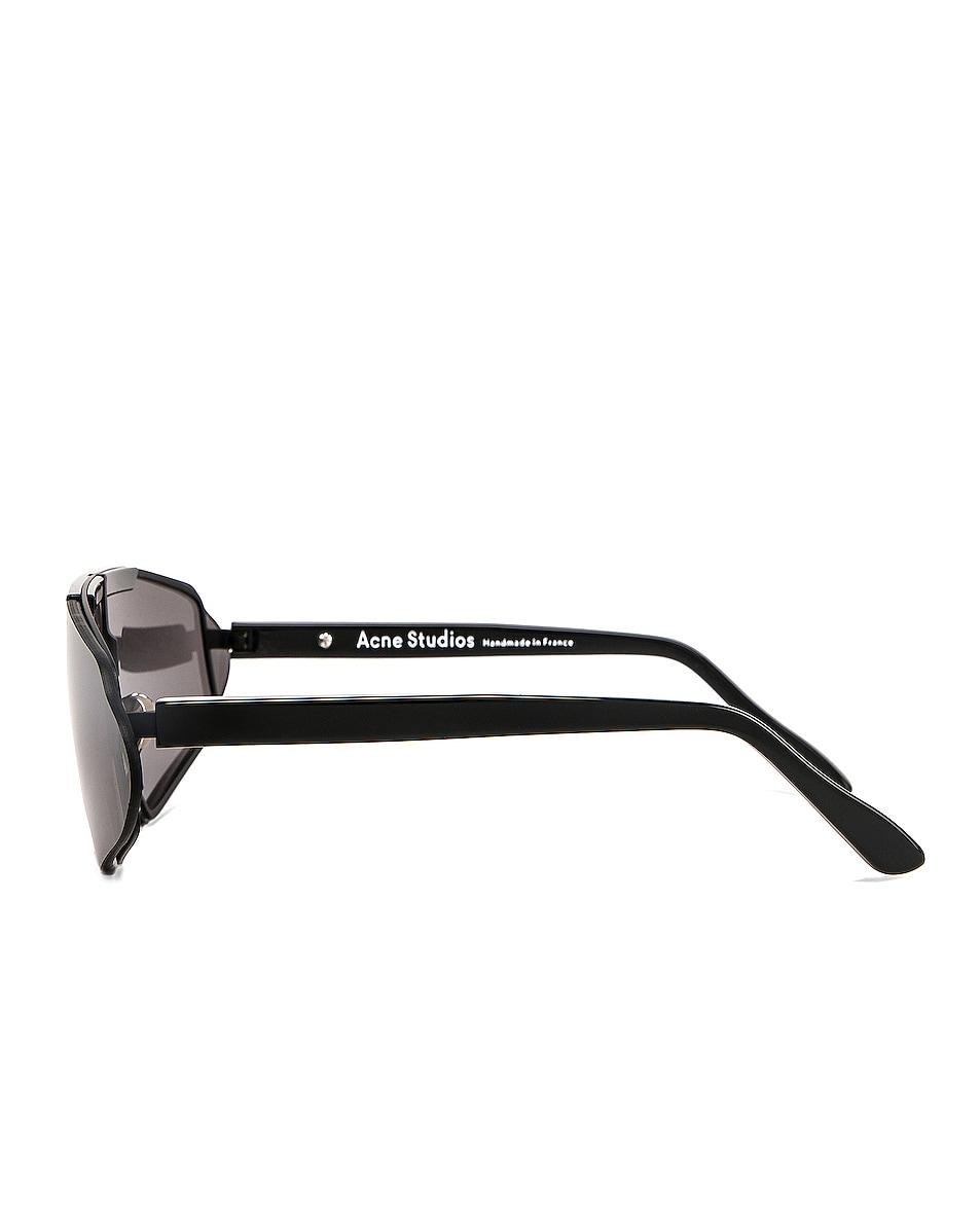 Image 3 of Acne Studios Bornt Sunglasses in Black & Silver