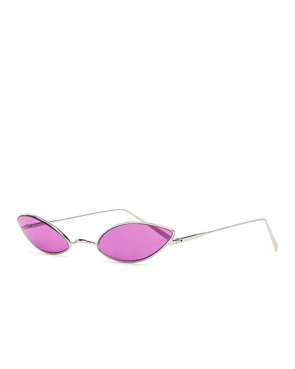 Image 2 of Acne Studios Astaria Sunglasses in Silver & Purple