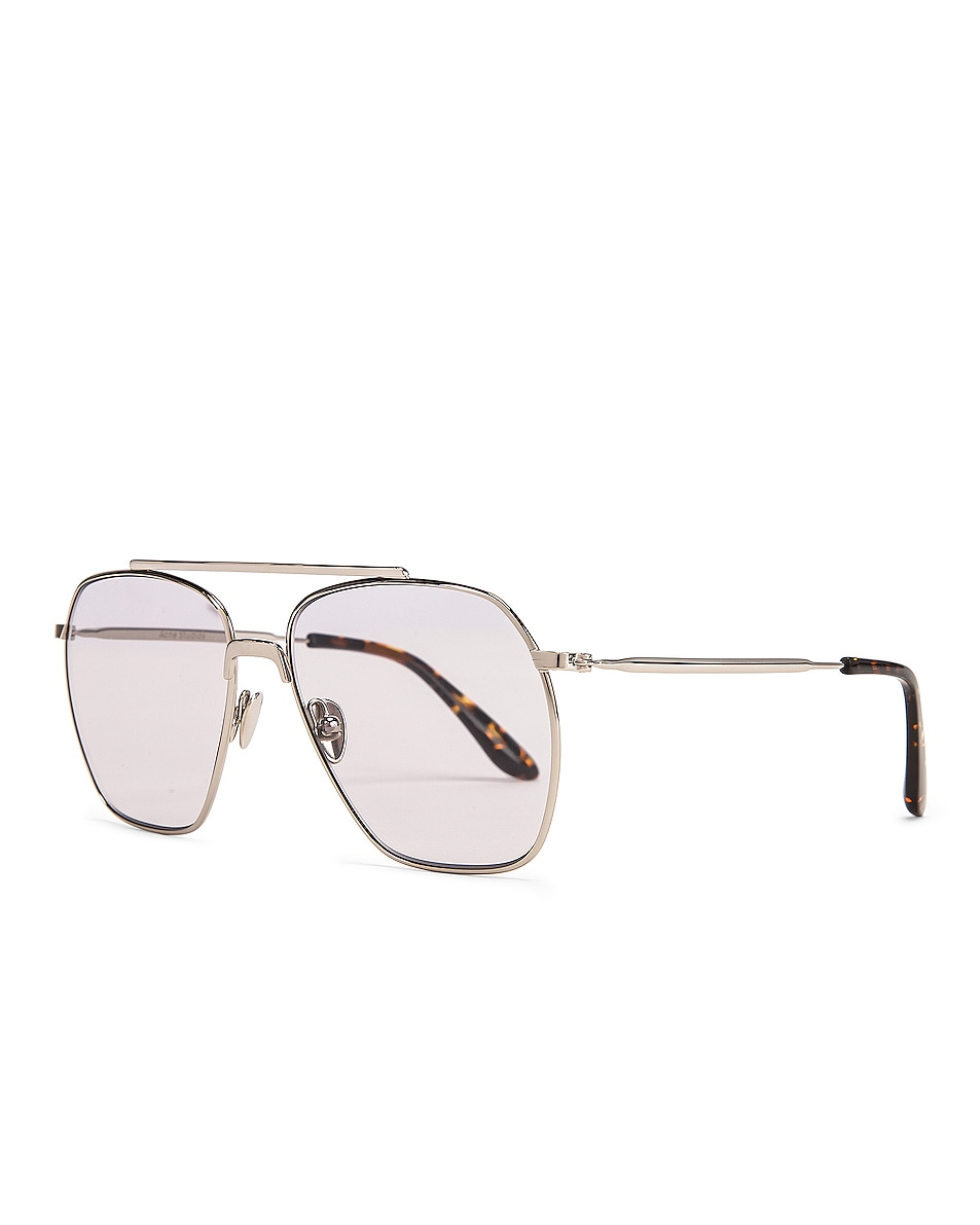 Image 2 of Acne Studios Anteom Sunglasses in Silver & Grey