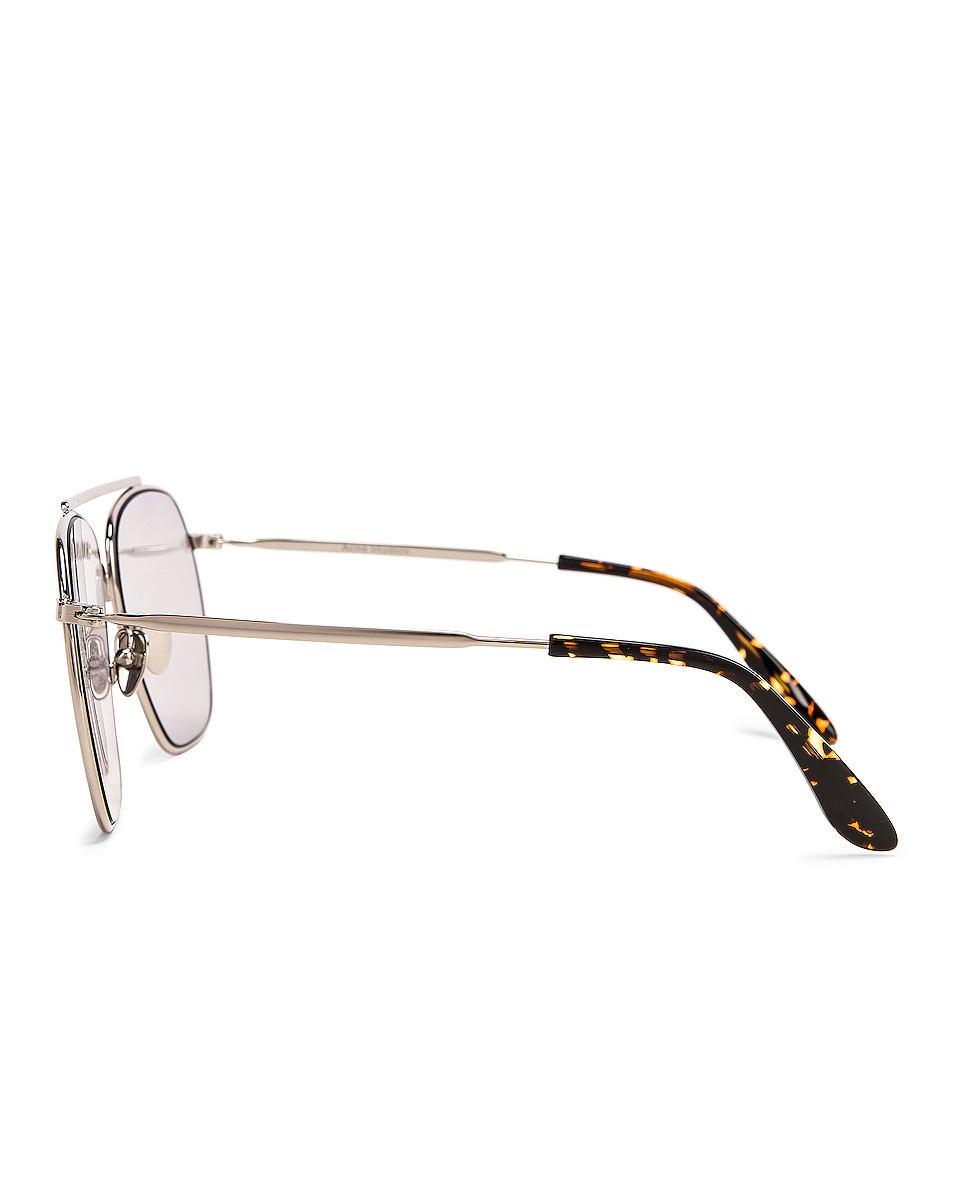 Image 3 of Acne Studios Anteom Sunglasses in Silver & Grey