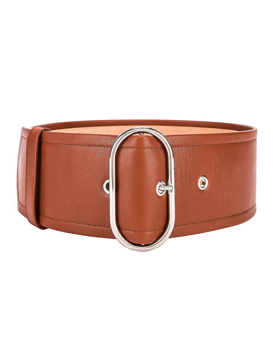 Image 1 of Acne Studios Large Belt in Cognac Brown