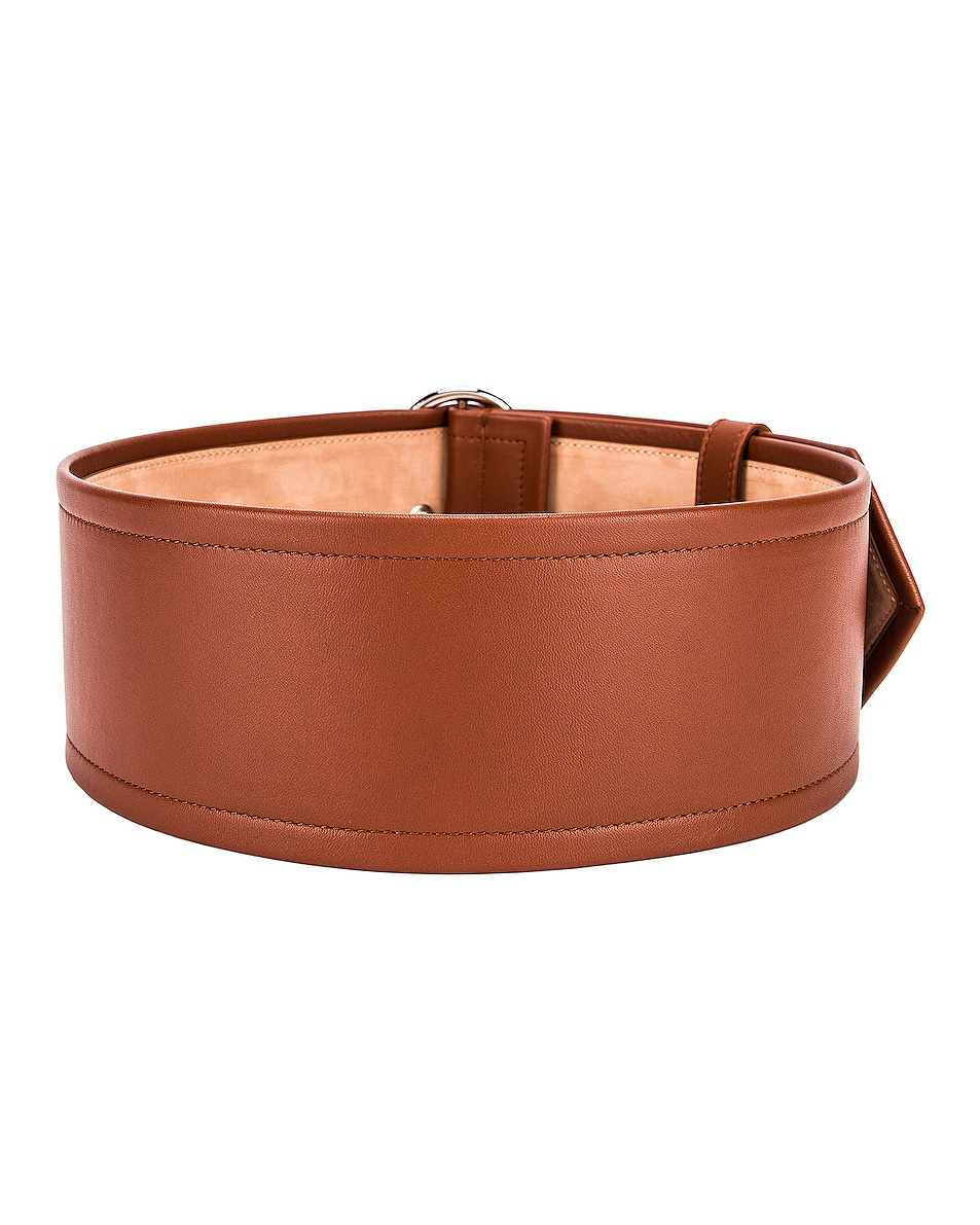 Image 2 of Acne Studios Large Belt in Cognac Brown