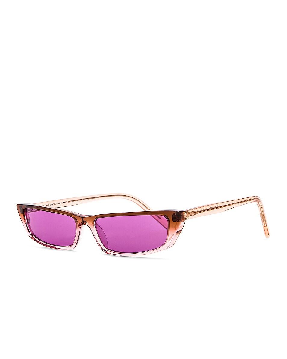 Image 2 of Acne Studios Agar Glasses in Brown & Purple
