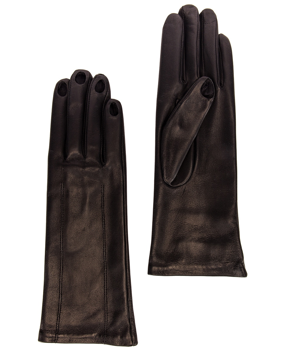 Image 1 of Acne Studios Aimee Leather Gloves in Black