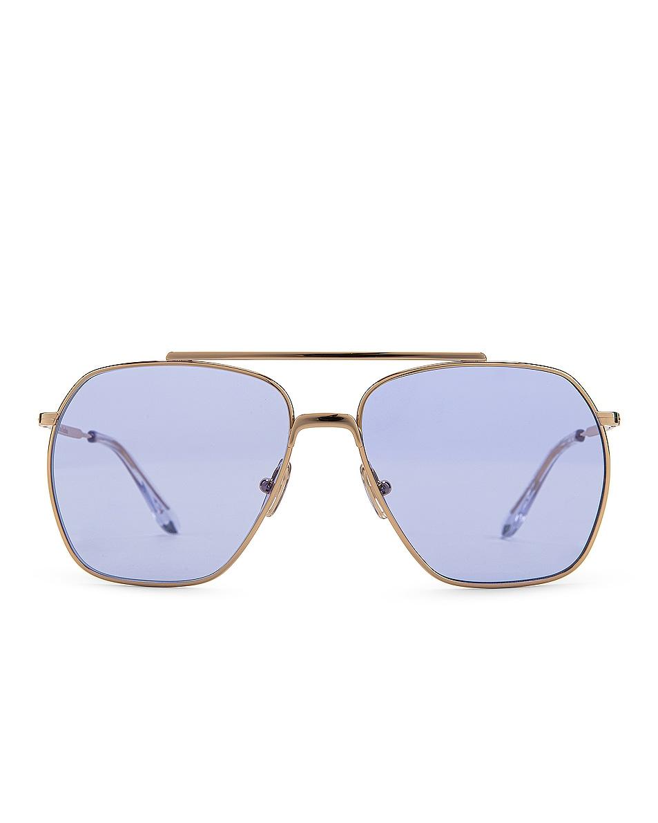 Image 1 of Acne Studios Anteom Sunglasses in Gold & Blue