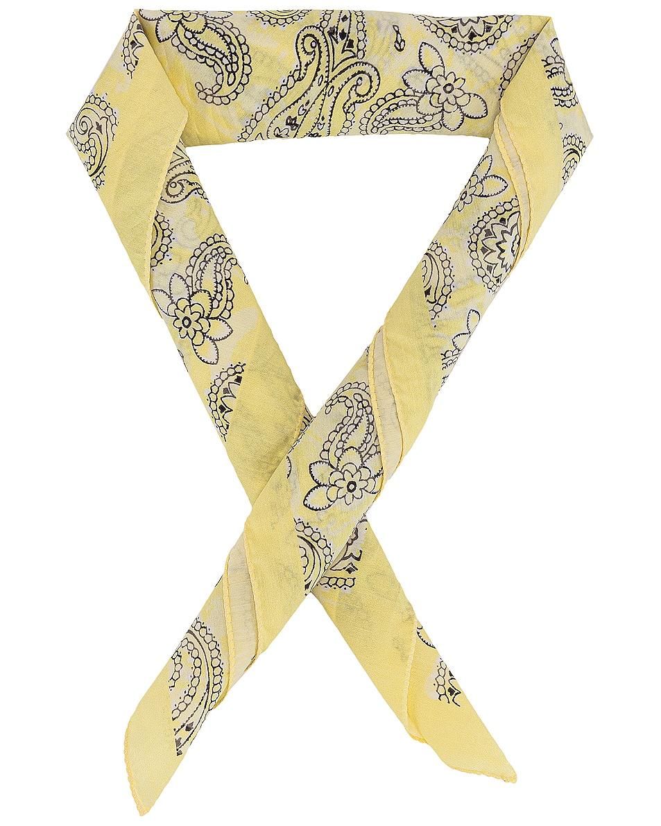 Image 1 of Acne Studios Bandana Scarf in Lemon Yellow