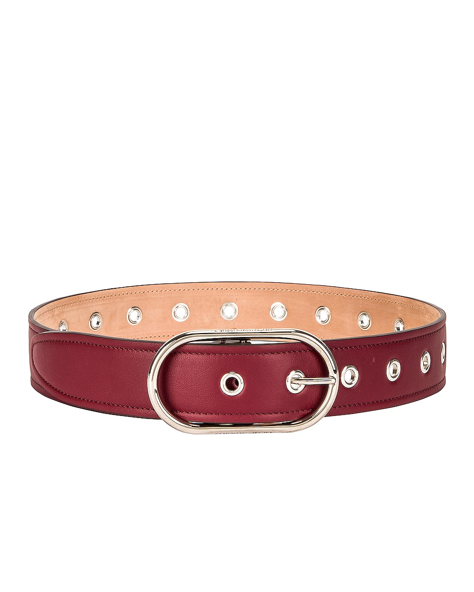 Image 1 of Acne Studios Masculine Large Belt in Burgundy