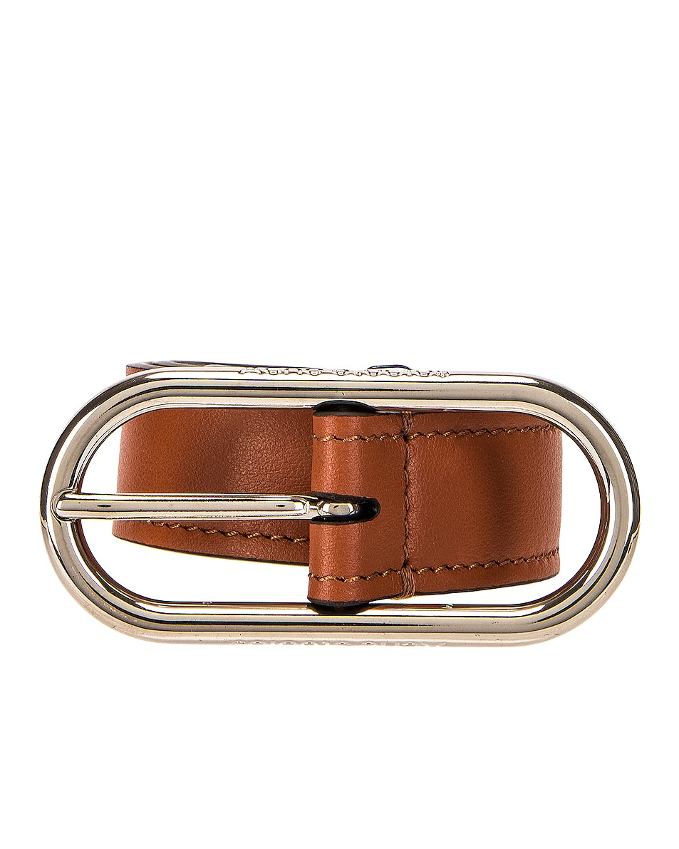 Image 1 of Acne Studios Masculine Thin Belt in Almond Brown