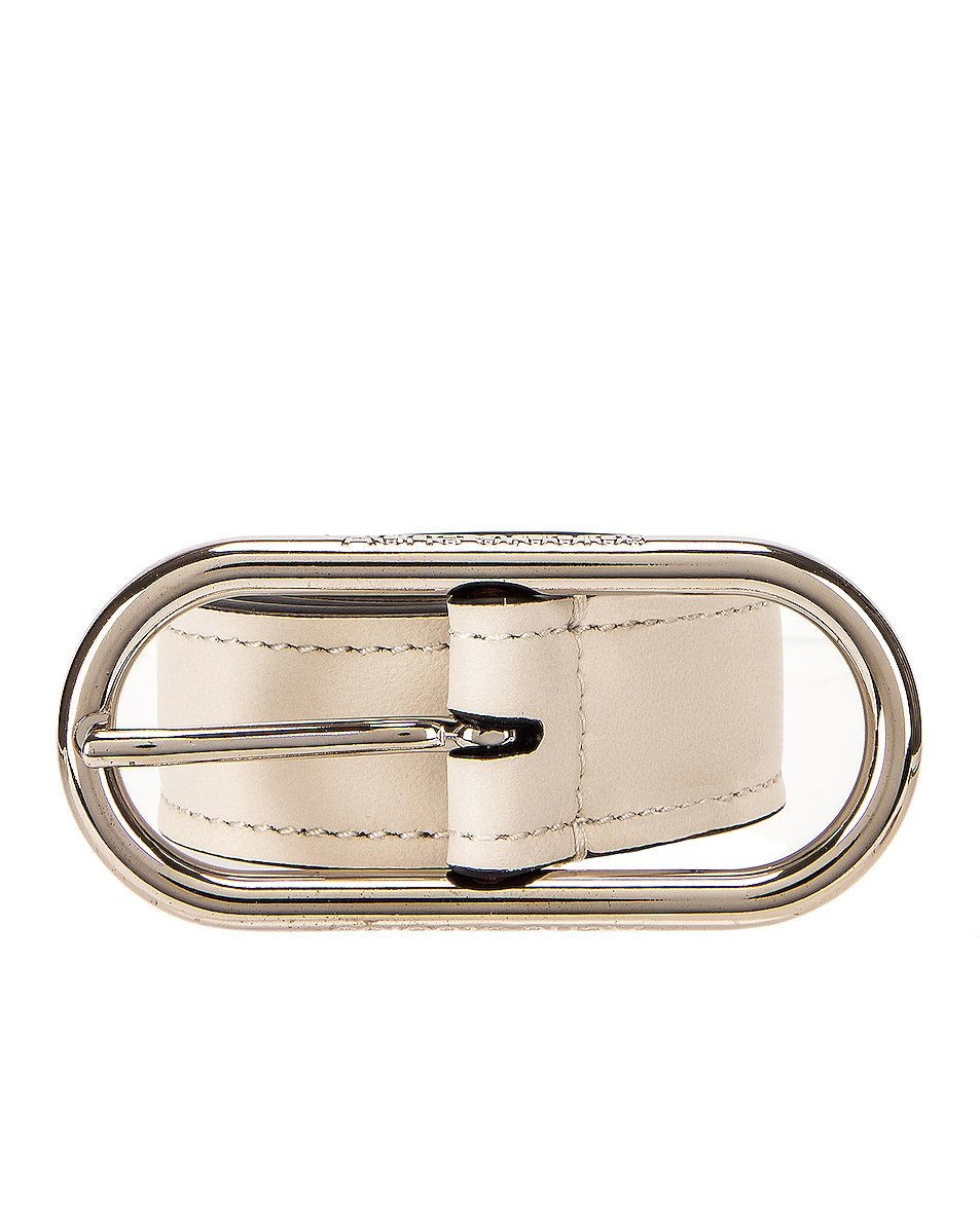 Image 1 of Acne Studios Masculine Thin Belt in White & Black