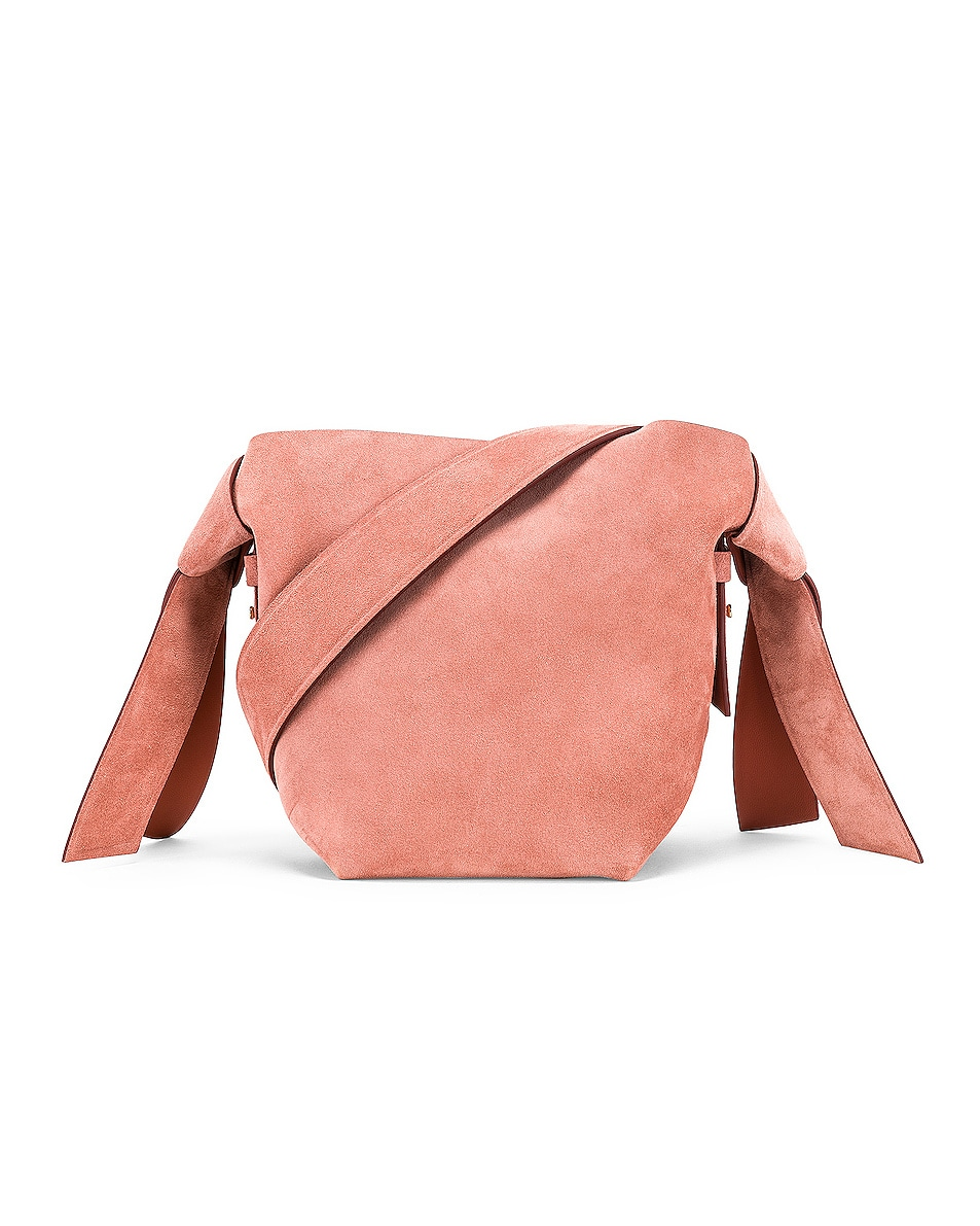 Image 1 of Acne Studios Musubi Mini Suede Bag in Pink