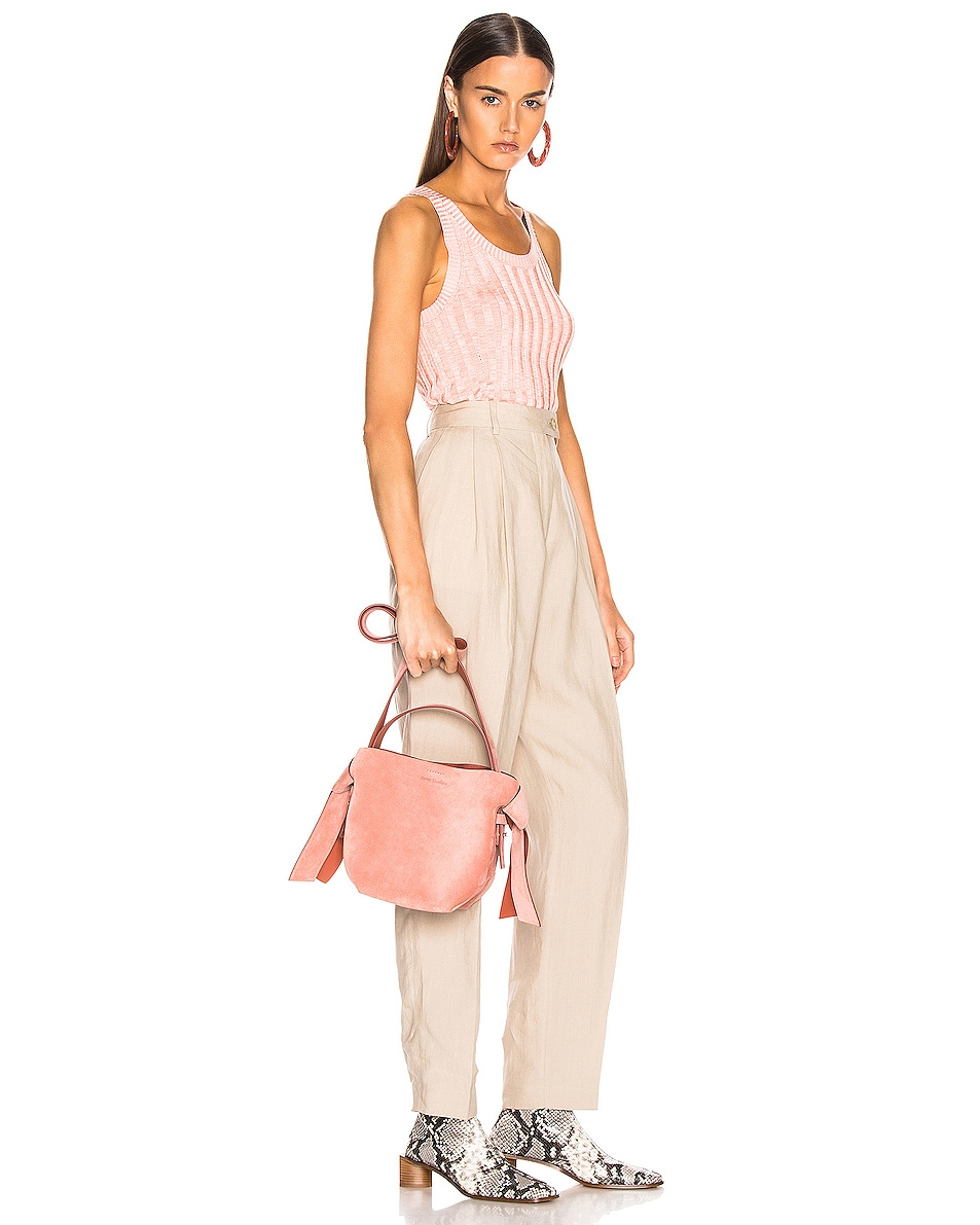 Image 2 of Acne Studios Musubi Mini Suede Bag in Pink