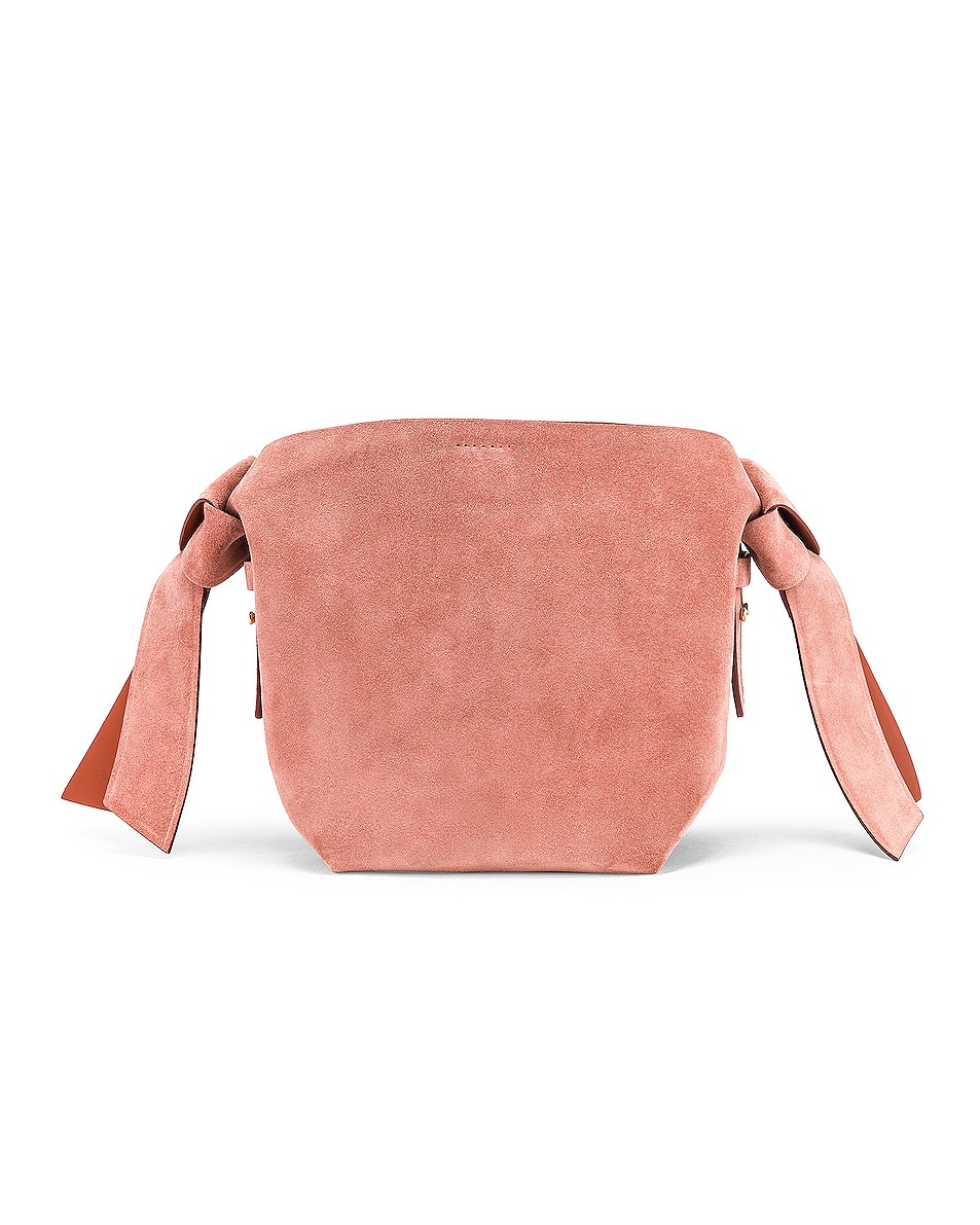 Image 3 of Acne Studios Musubi Mini Suede Bag in Pink