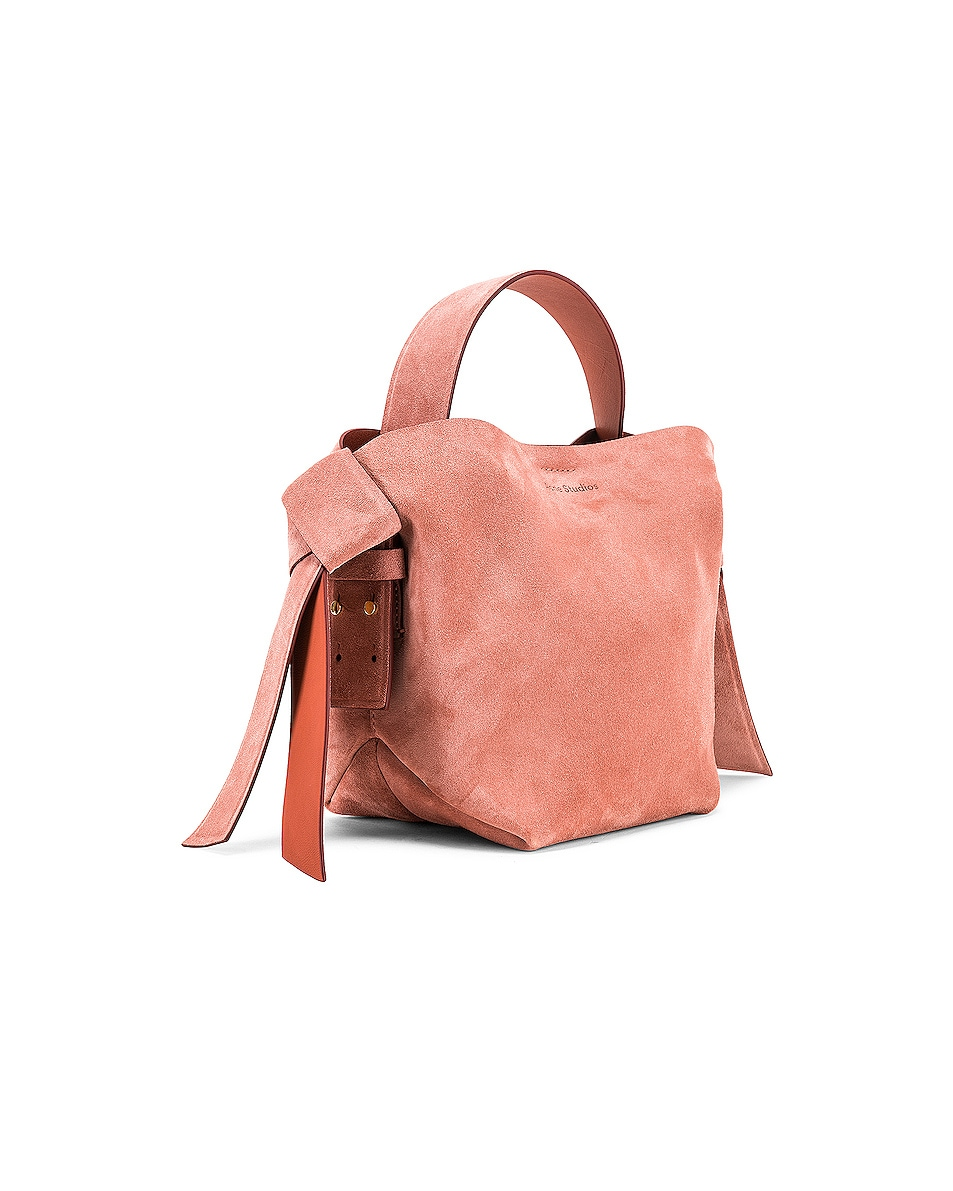 Image 4 of Acne Studios Musubi Mini Suede Bag in Pink
