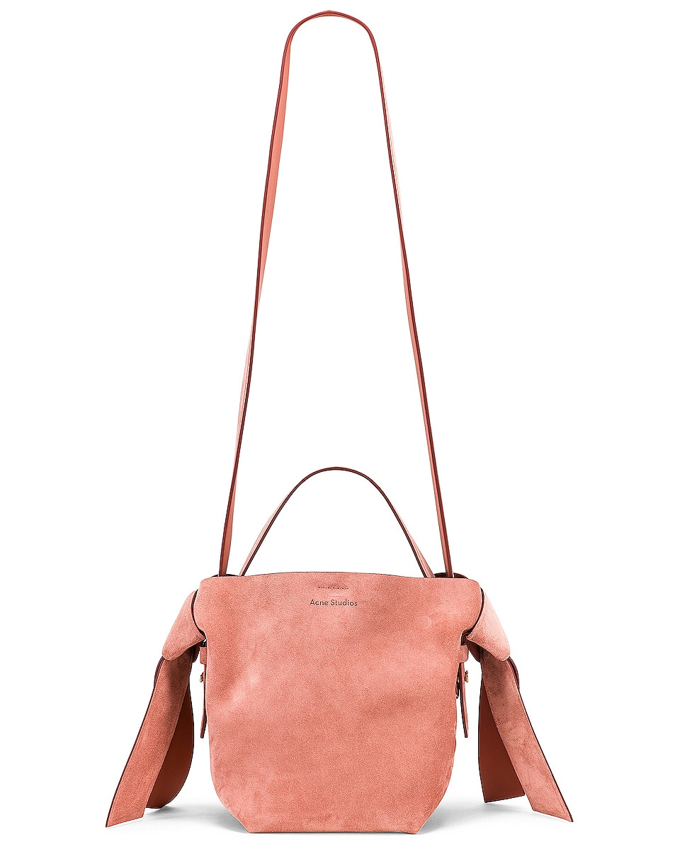Image 6 of Acne Studios Musubi Mini Suede Bag in Pink