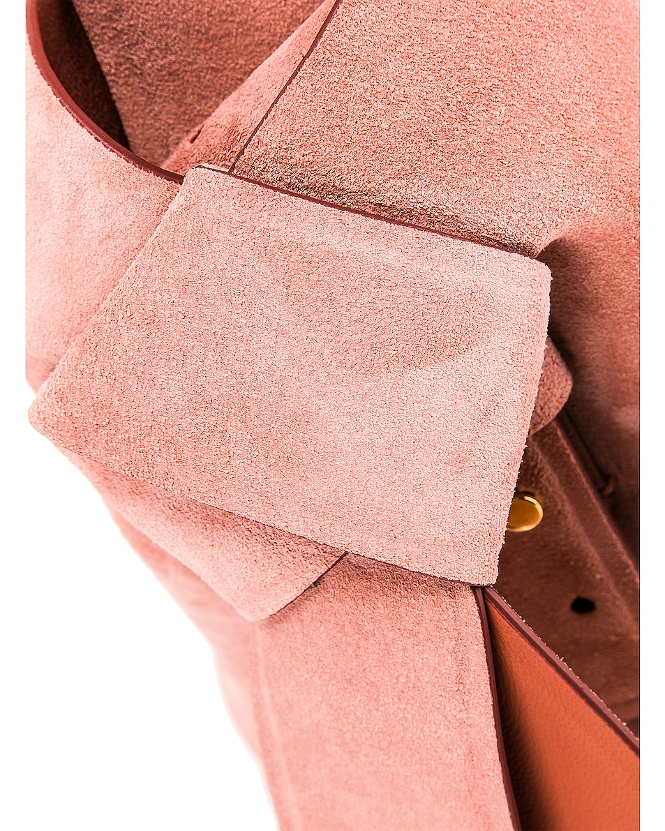 Image 8 of Acne Studios Musubi Mini Suede Bag in Pink