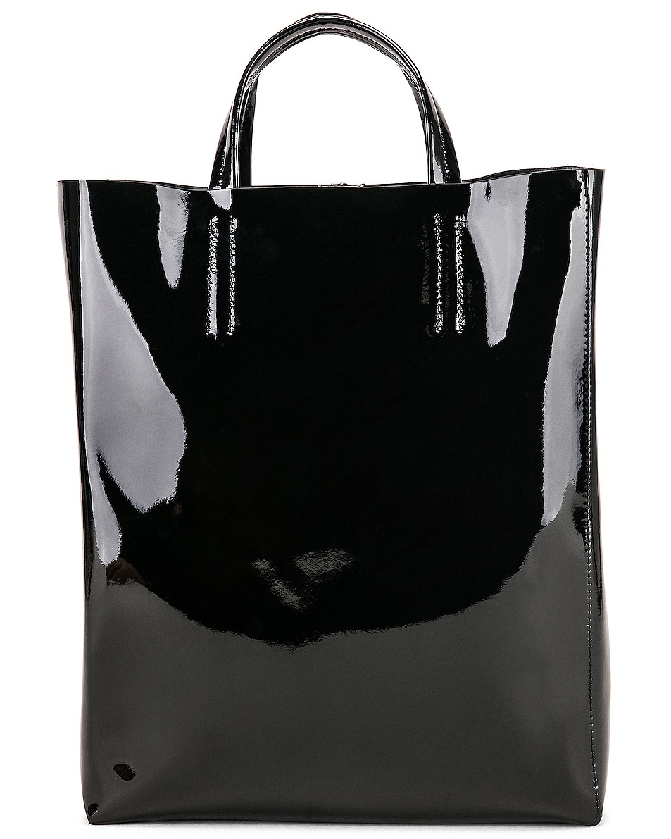 Image 1 of Acne Studios Baker Patent Bag in Black
