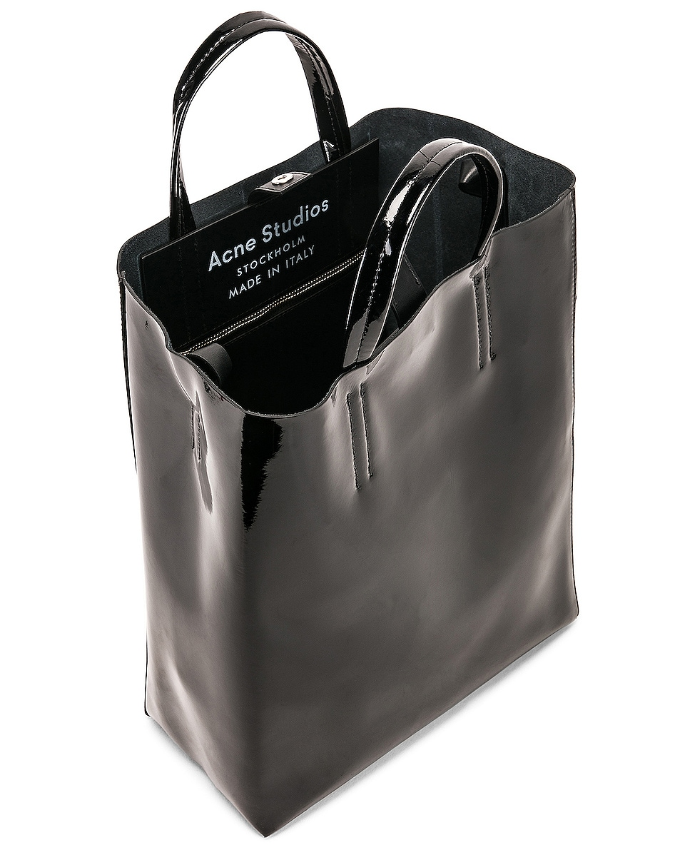 Image 5 of Acne Studios Baker Patent Bag in Black